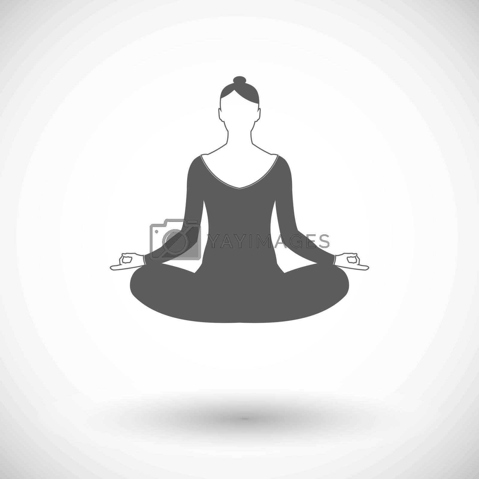 Yoga flat icon. by smoki
