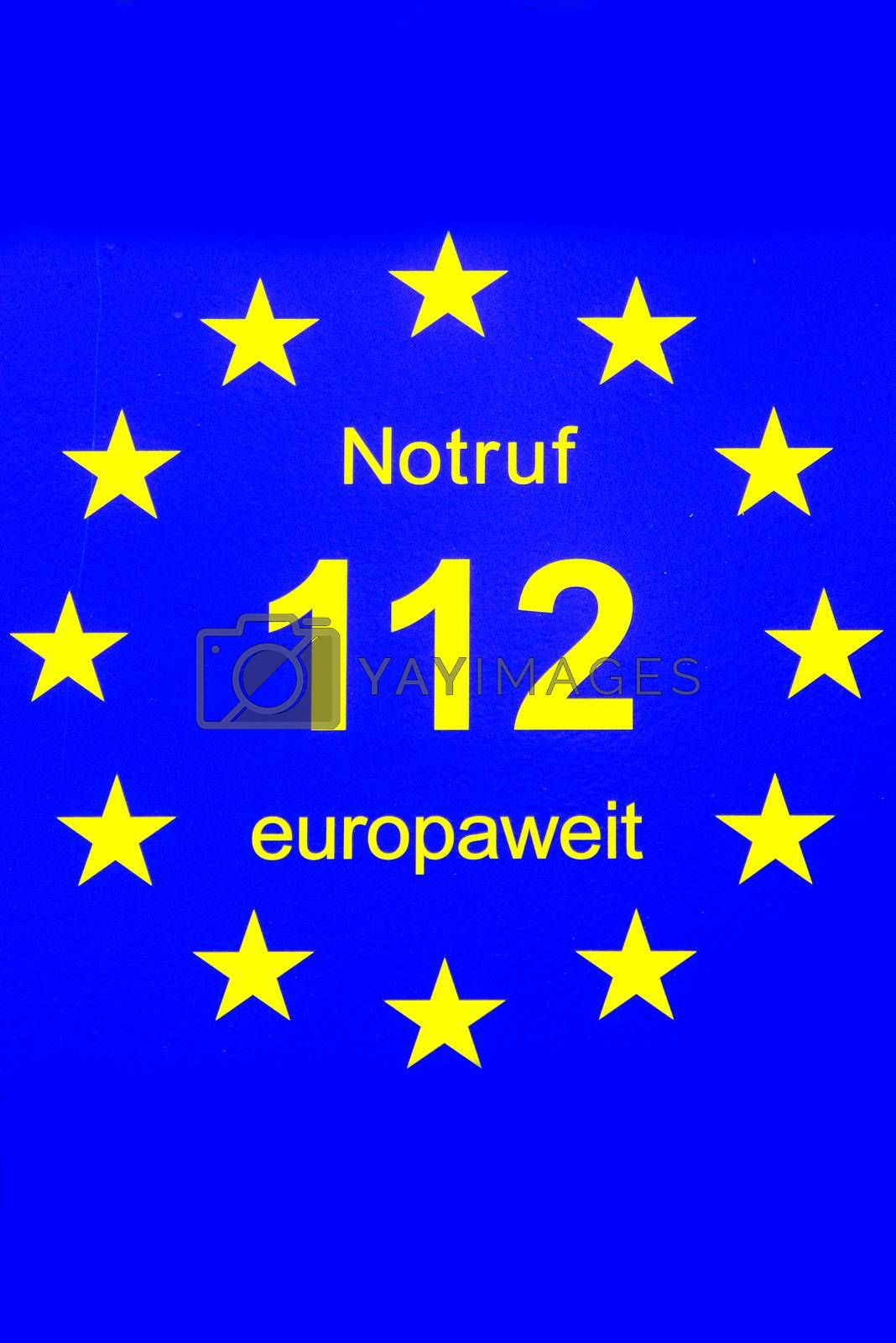 112, European emergency number of fire department and ambulance by Jochen
