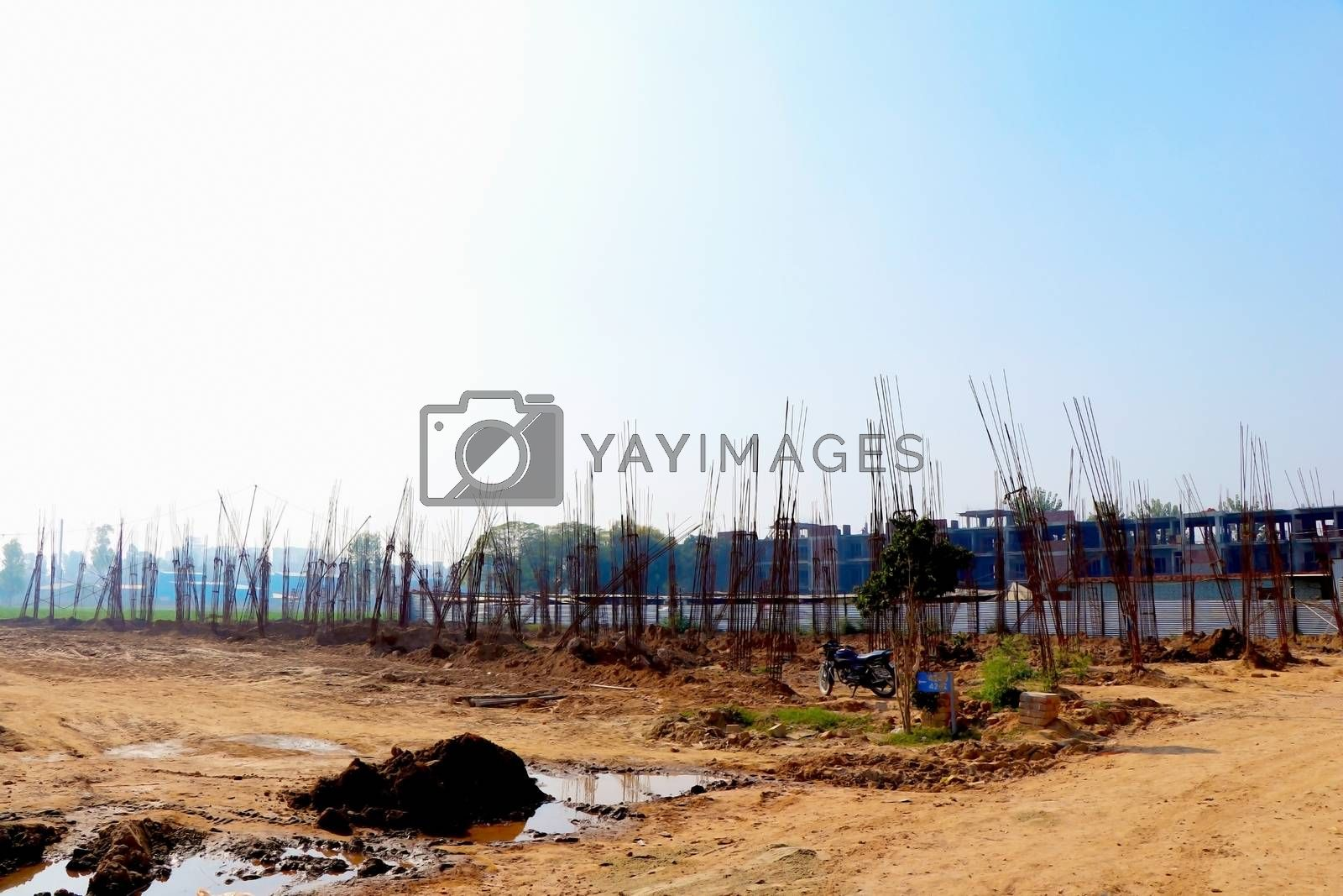 Patna, Bihar, India,- January 2020 : view of an new development areas in Patna