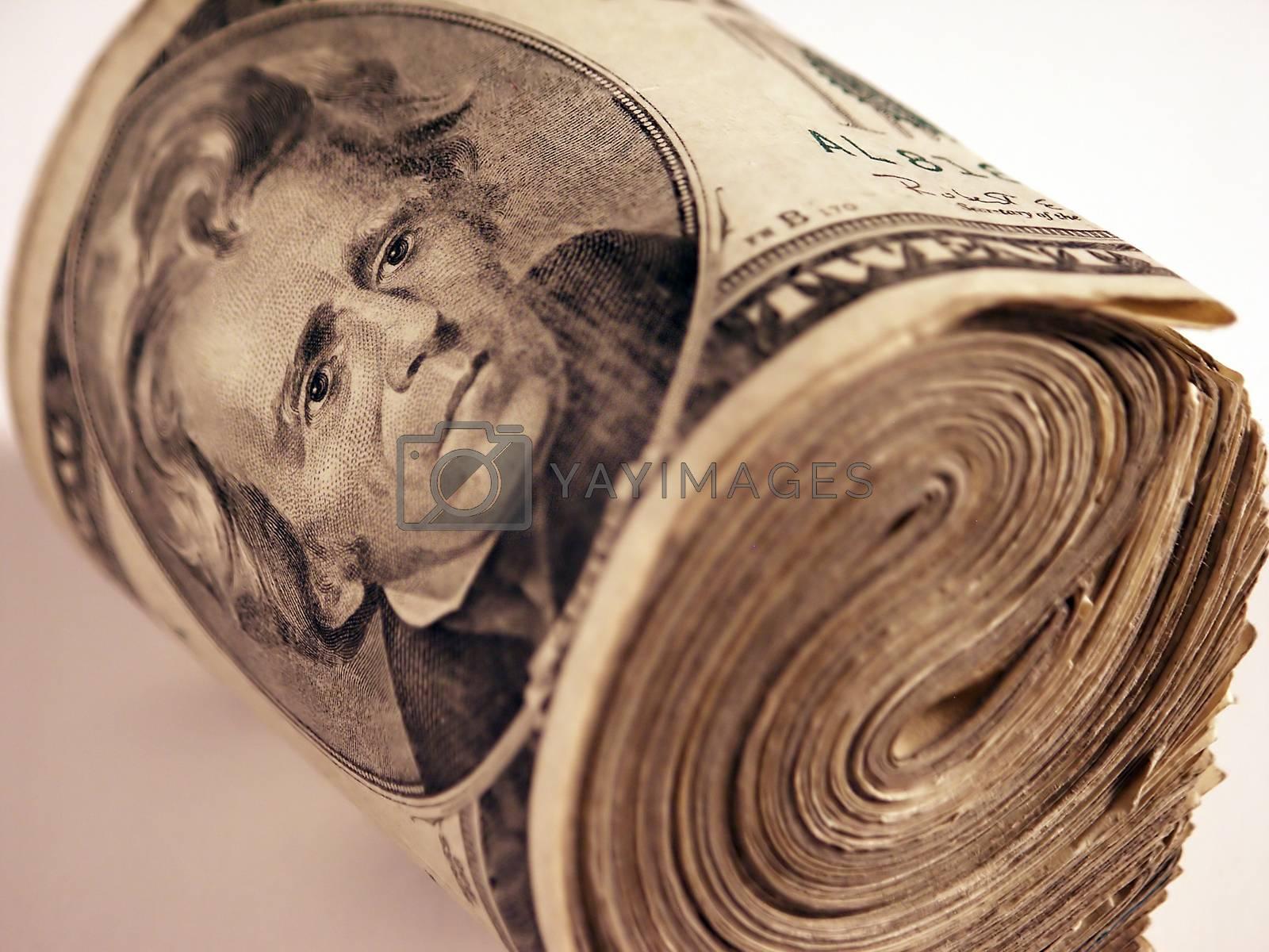 Money roll by applesstock