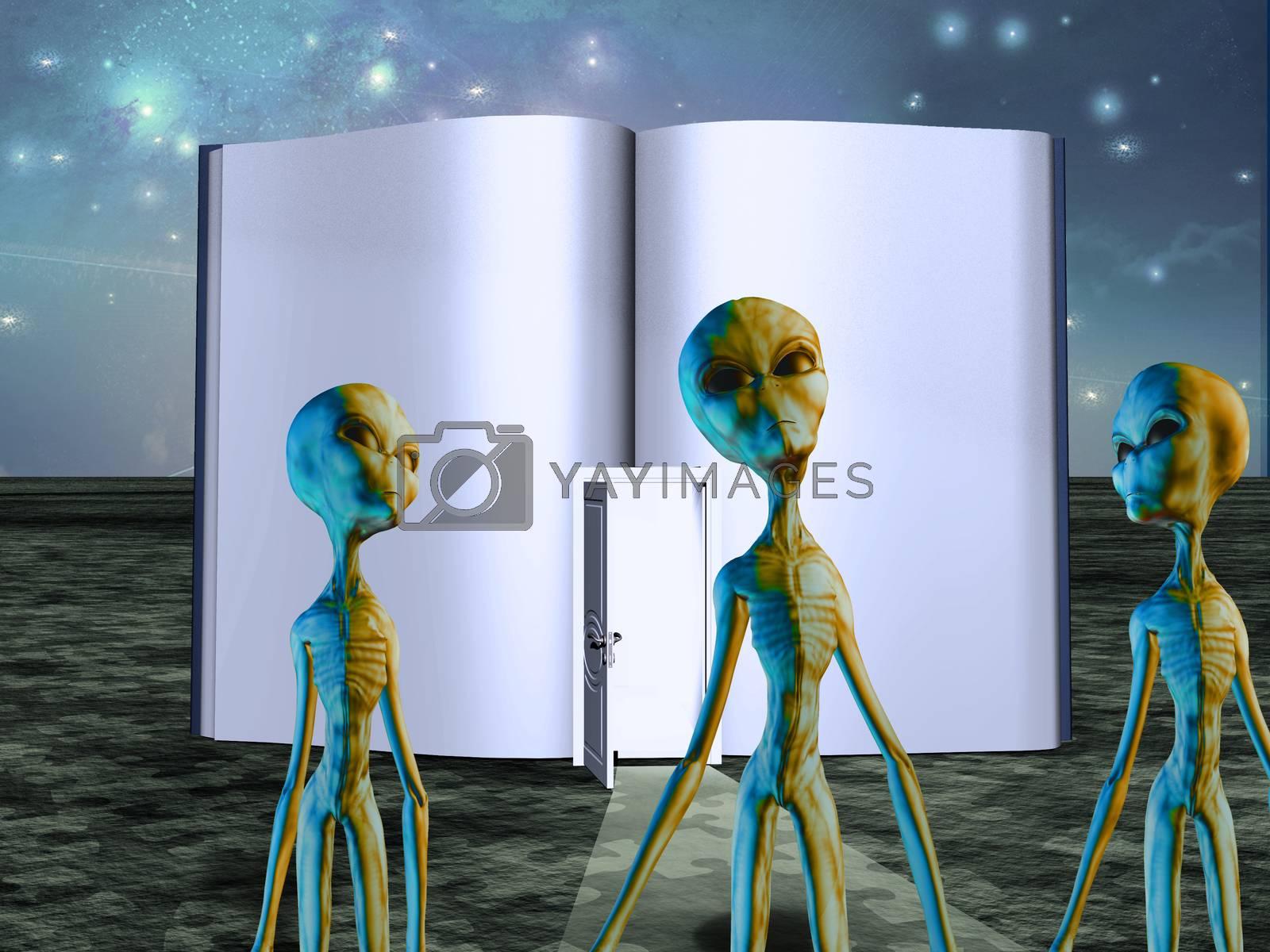 Aliens Story Book by applesstock
