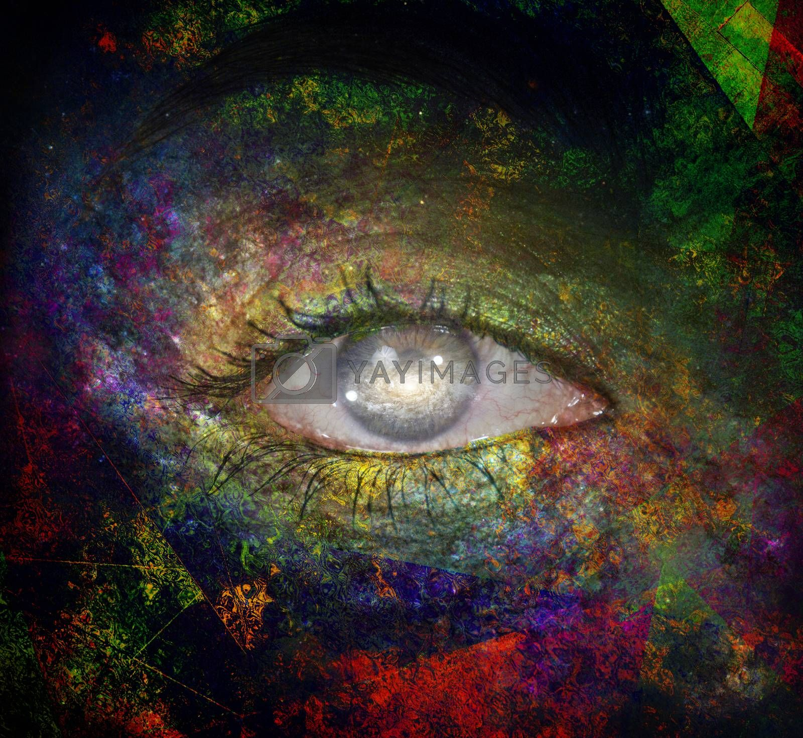 The eye of space by applesstock