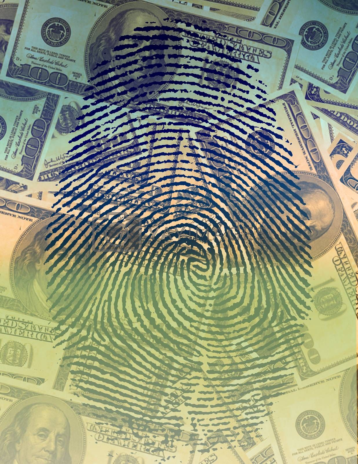 Finger Print and USA Currency