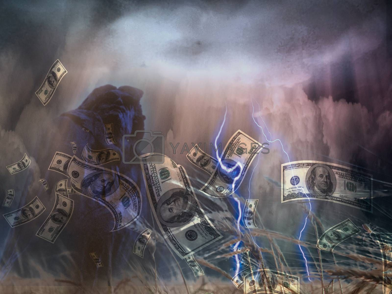 Money storm by applesstock