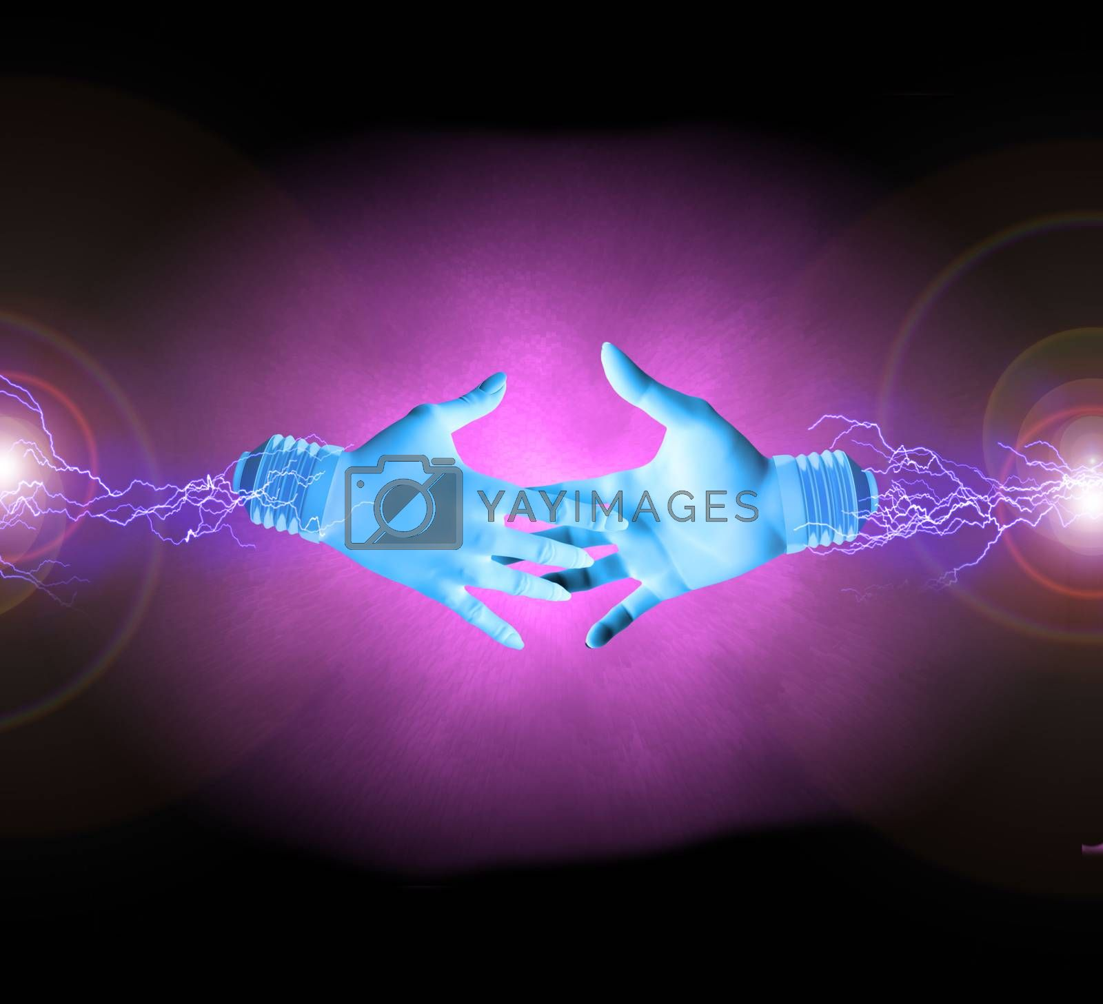 Electric handshake by applesstock