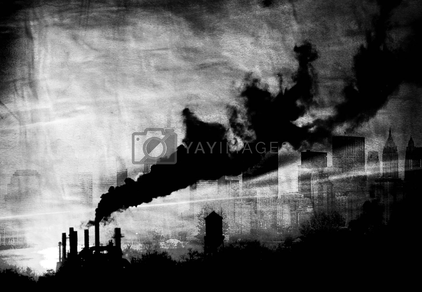 Pollution  by applesstock