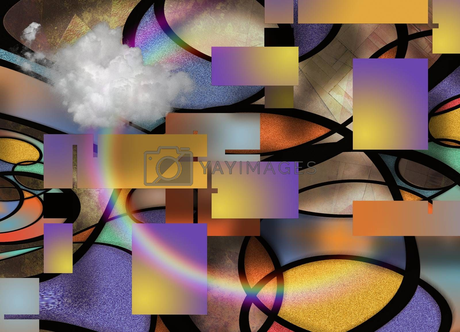 Abstract Composition by applesstock