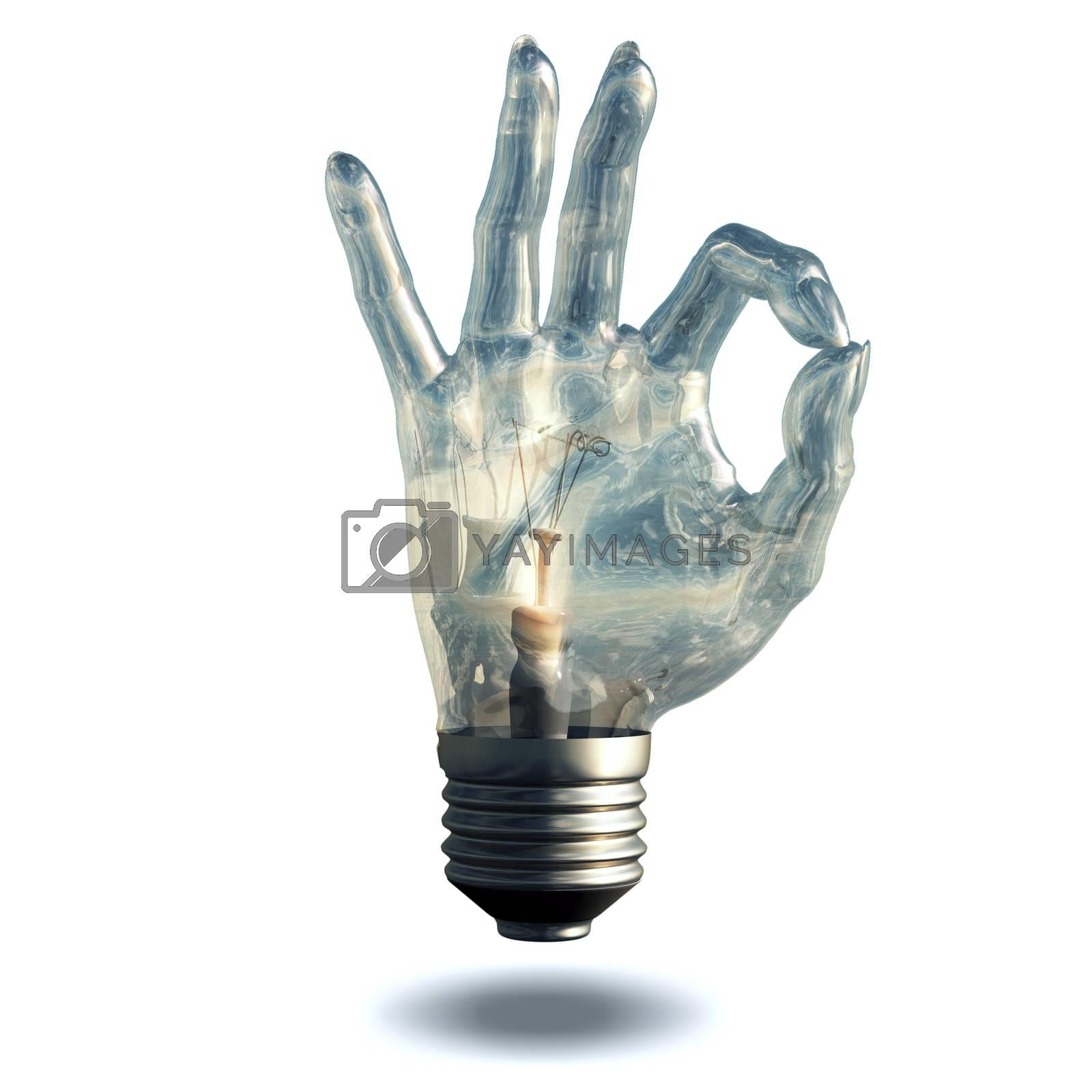 OK Hand Symbol by applesstock