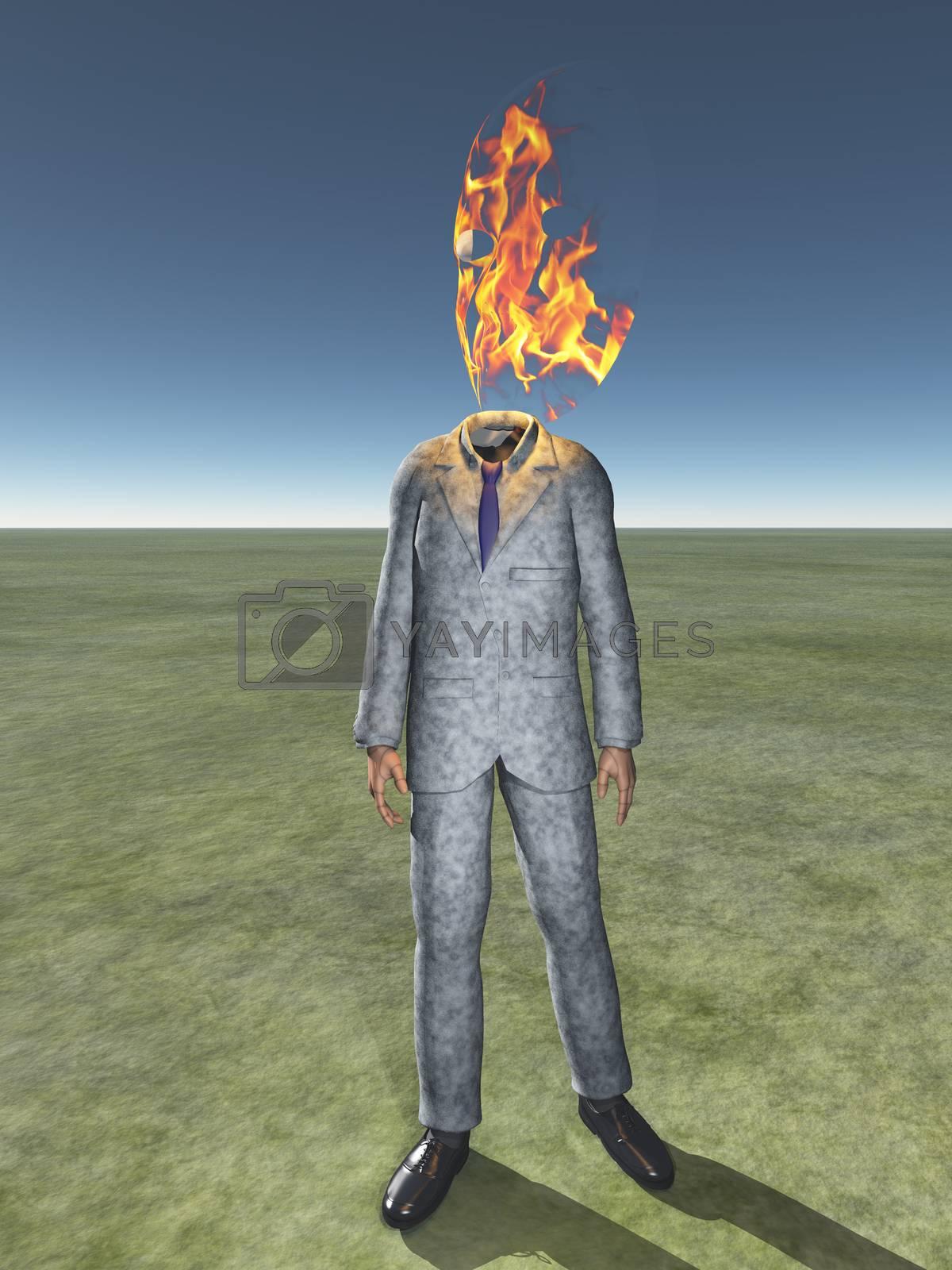 Fire head by applesstock