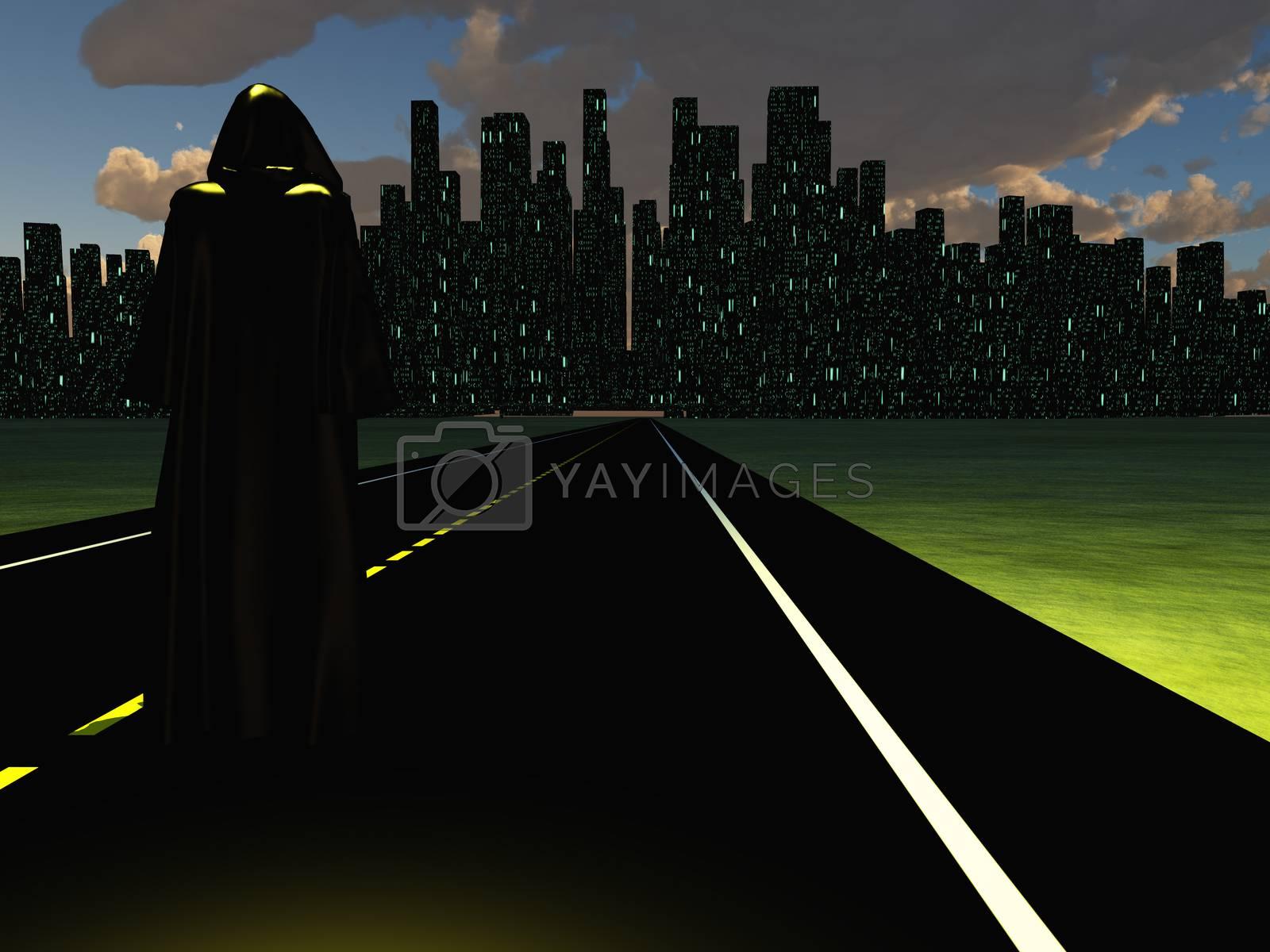 Night city by applesstock