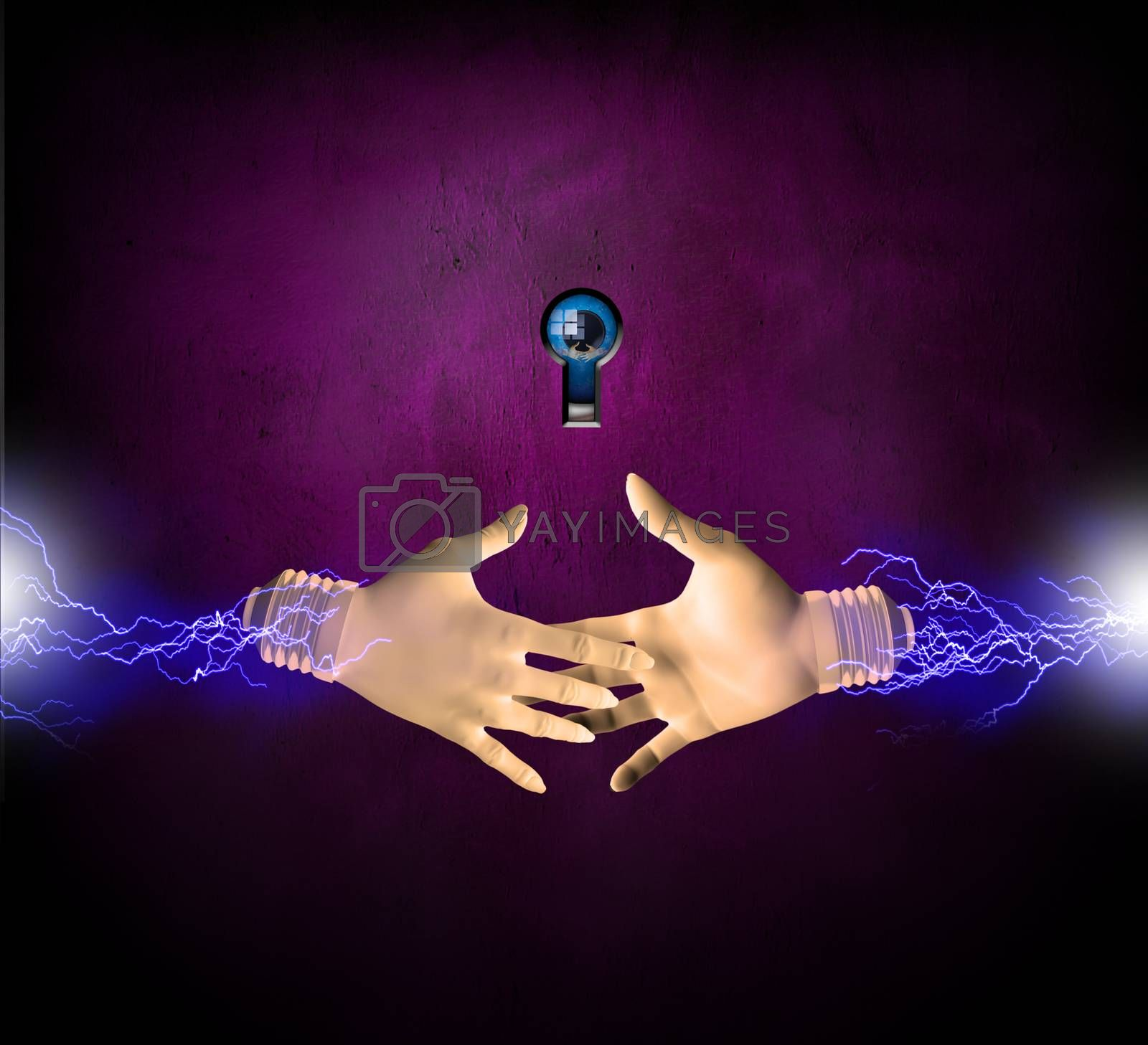 Electric Hands by applesstock