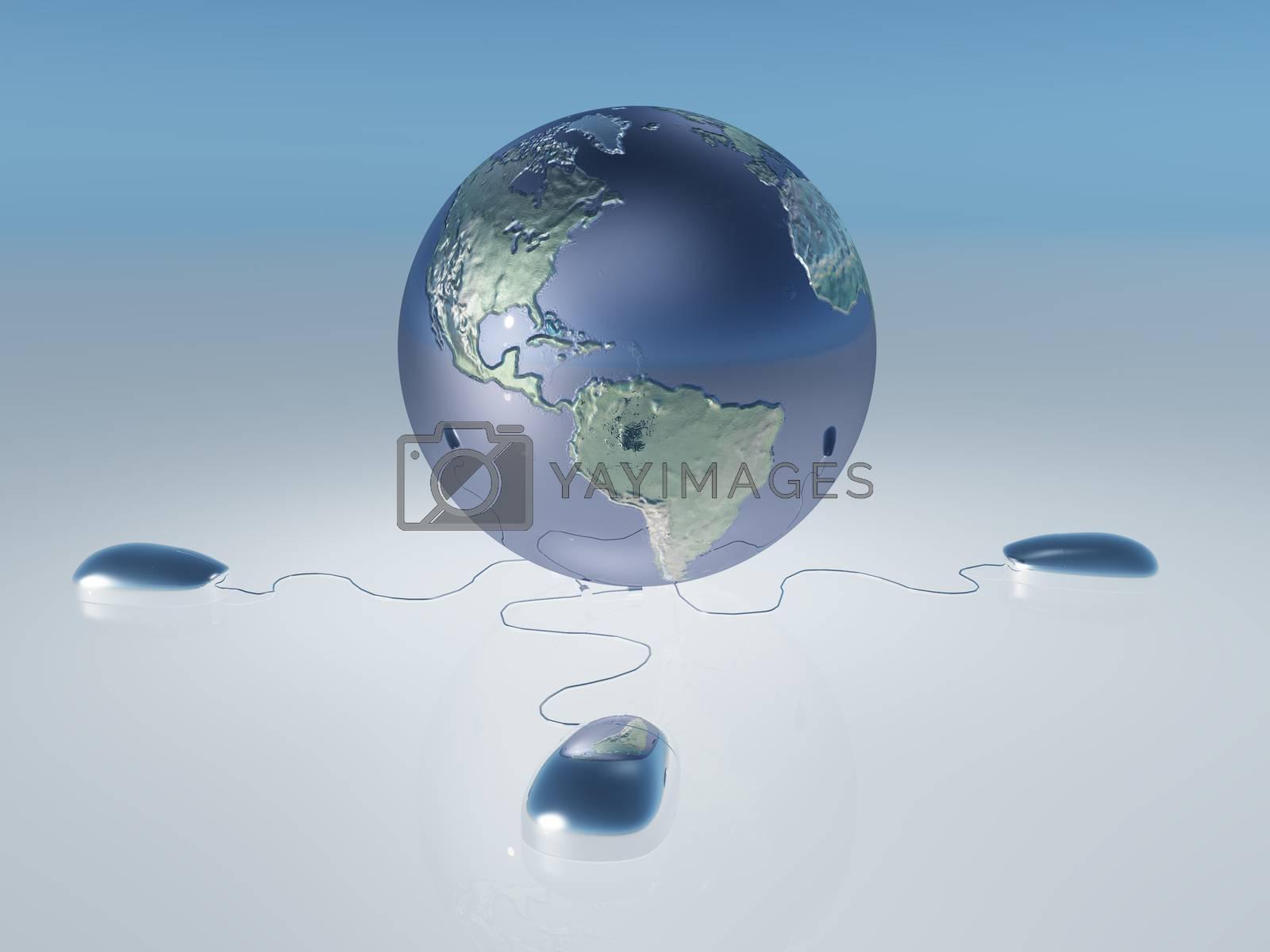 Internet World by applesstock