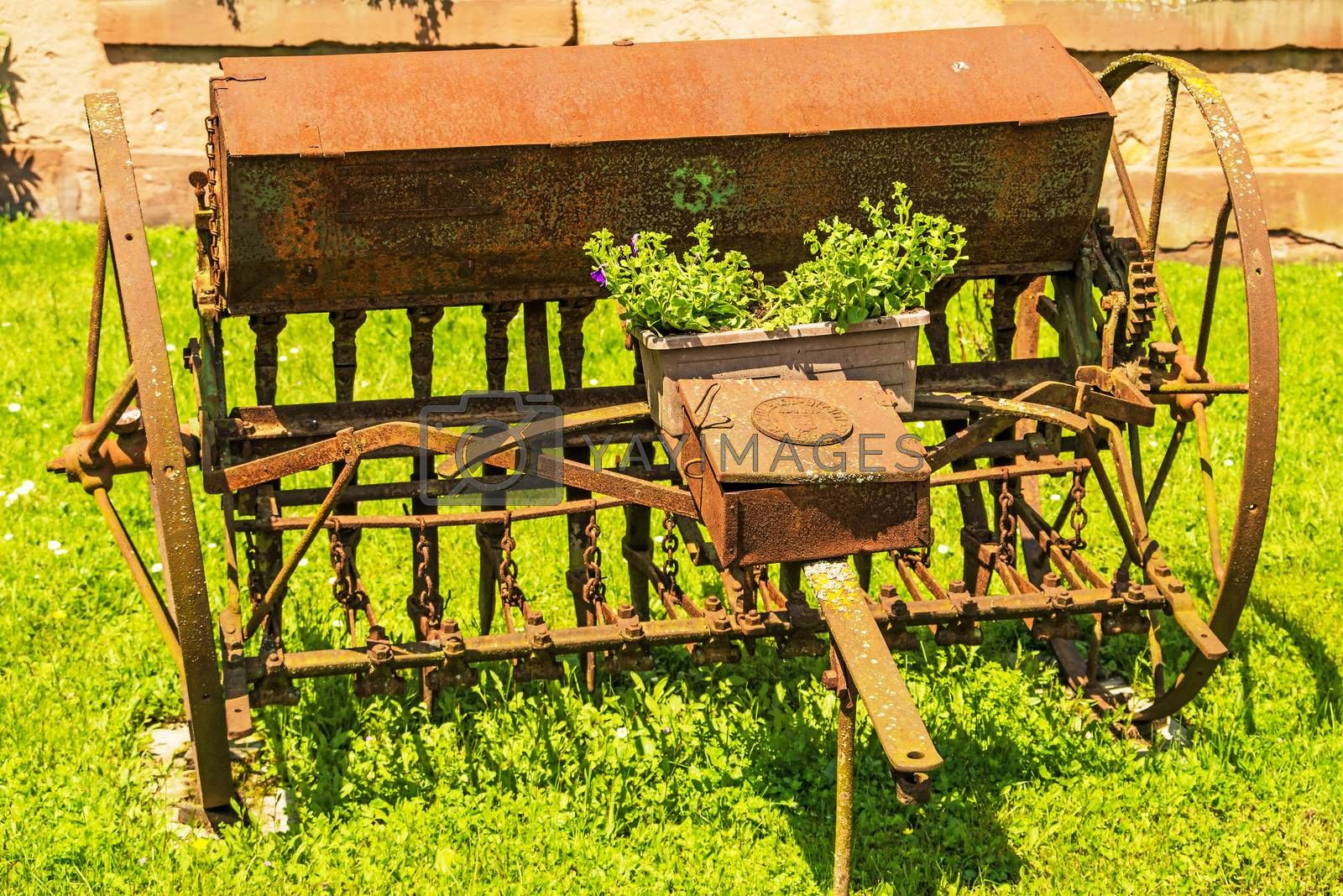 old agricultural machine by bremse