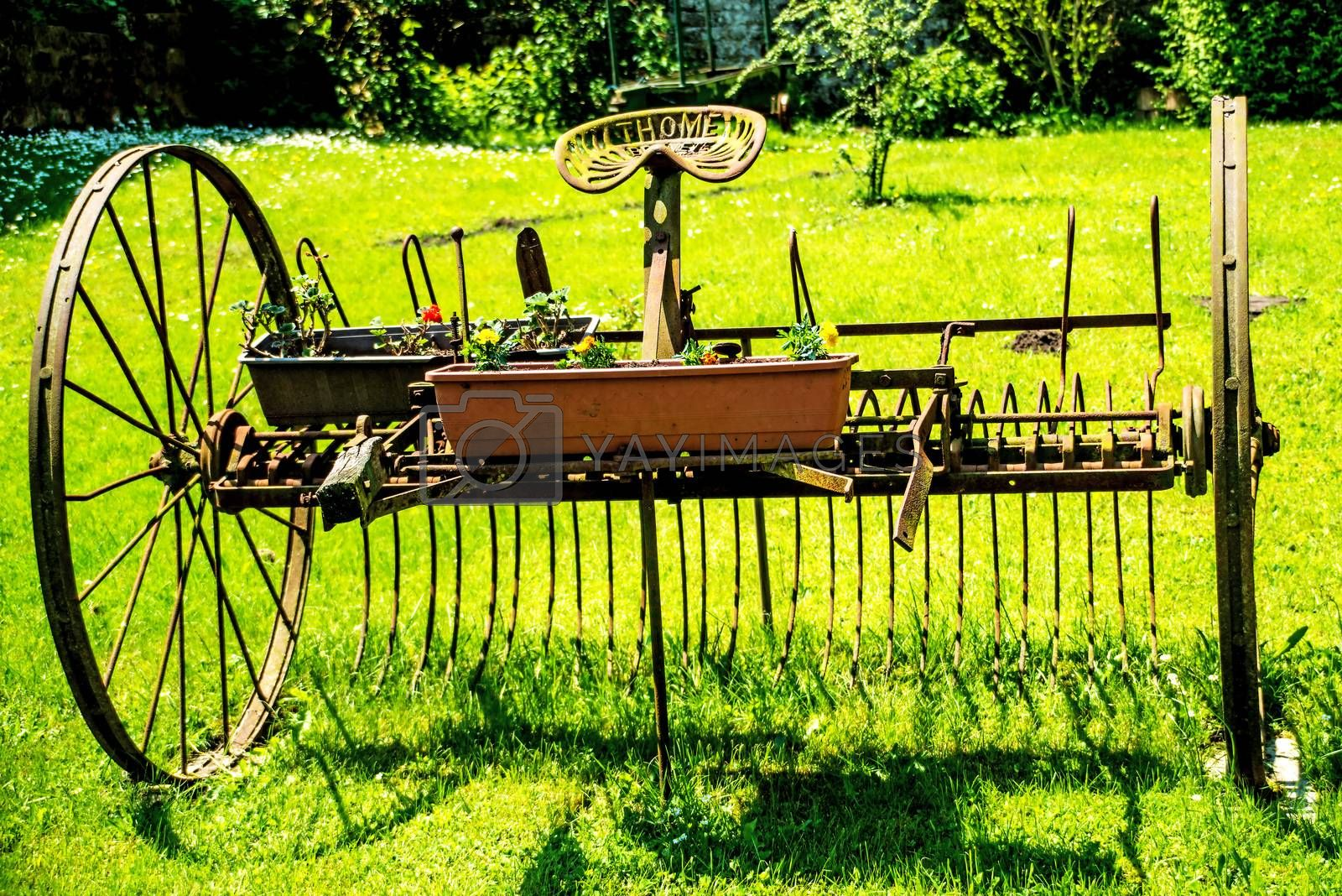 old hay turning machine by bremse