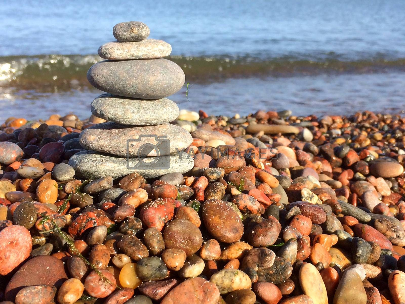 Zen stones on the beach by bremse