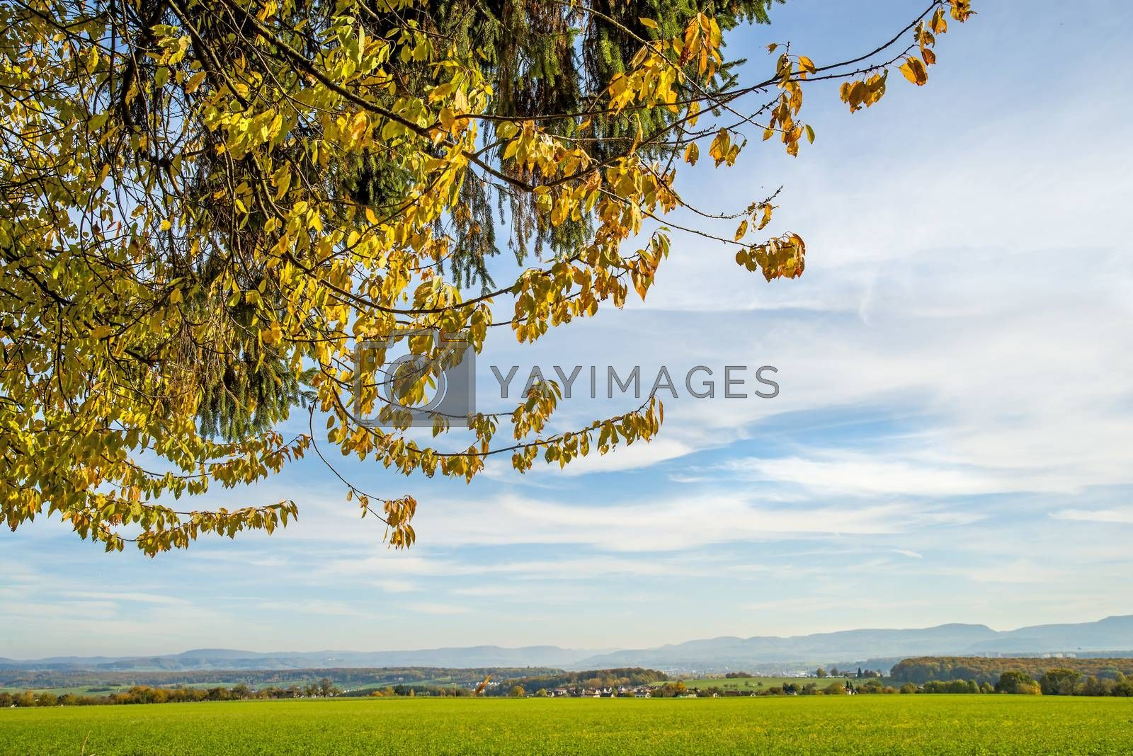 country idyll with view to German highlands by Jochen