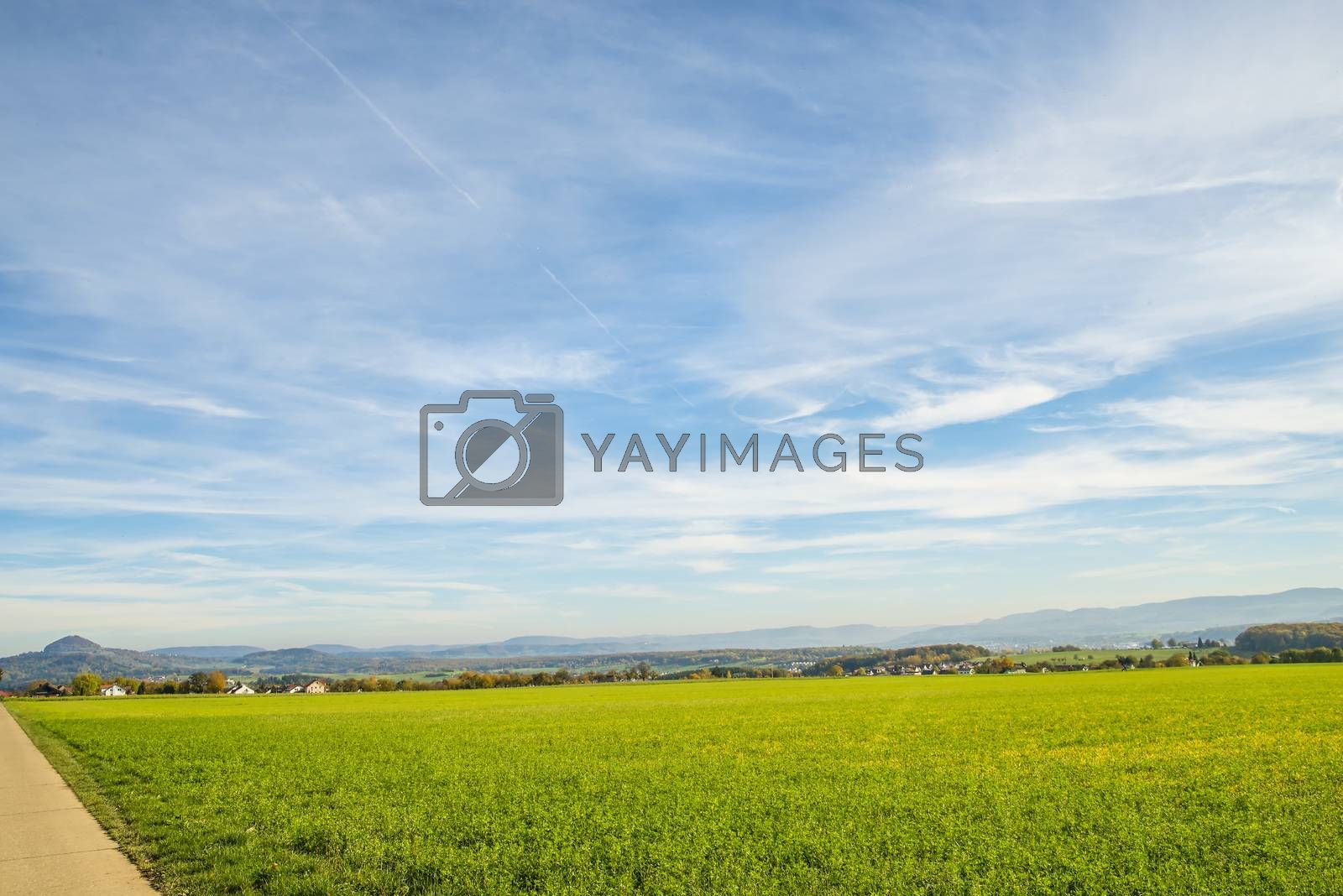 country idyll with view to German highlands by bremse