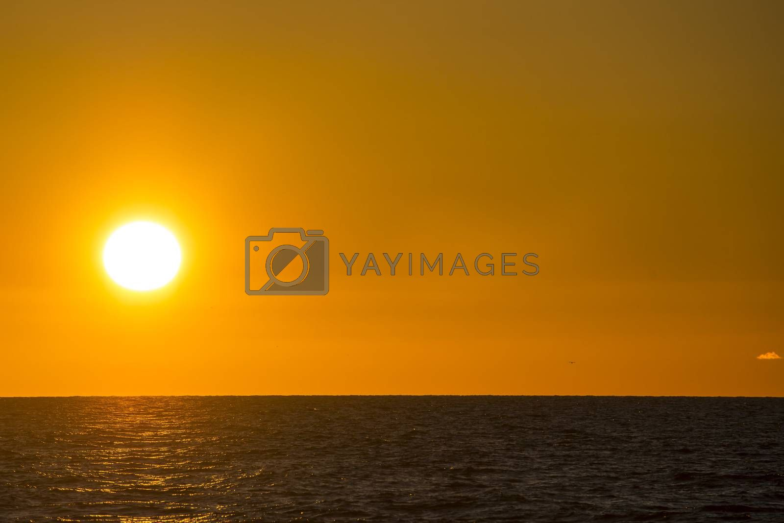 sunset over the Baltic Sea by bremse
