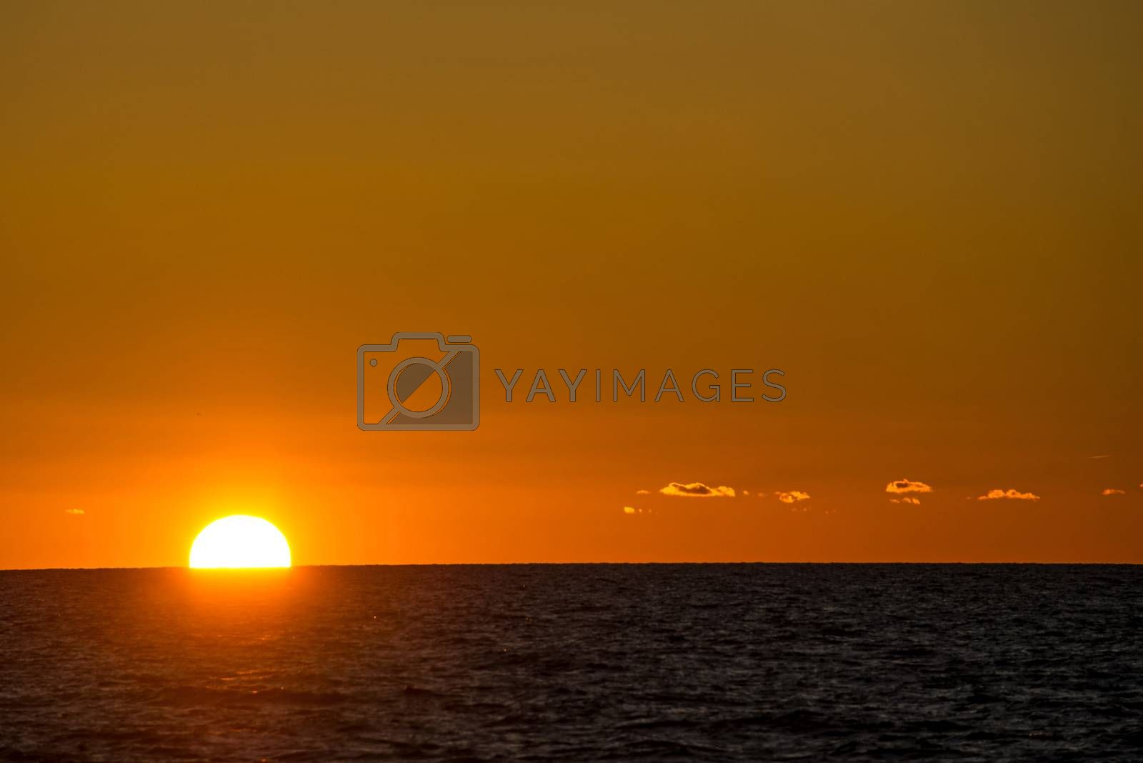 sunset over the Baltic Sea by Jochen