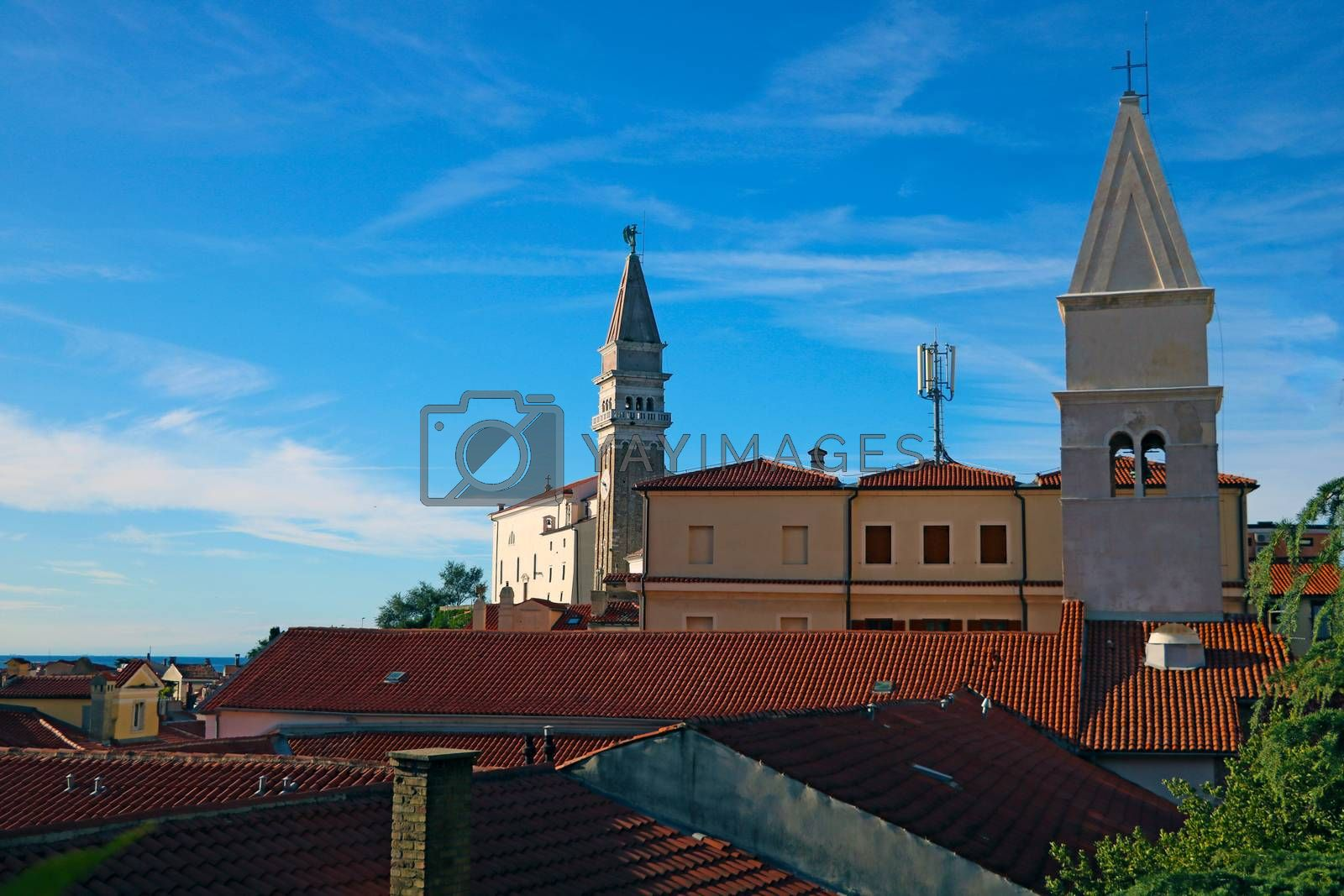 Piran town on Adriatic sea, one of major tourist attractions in Slovenia