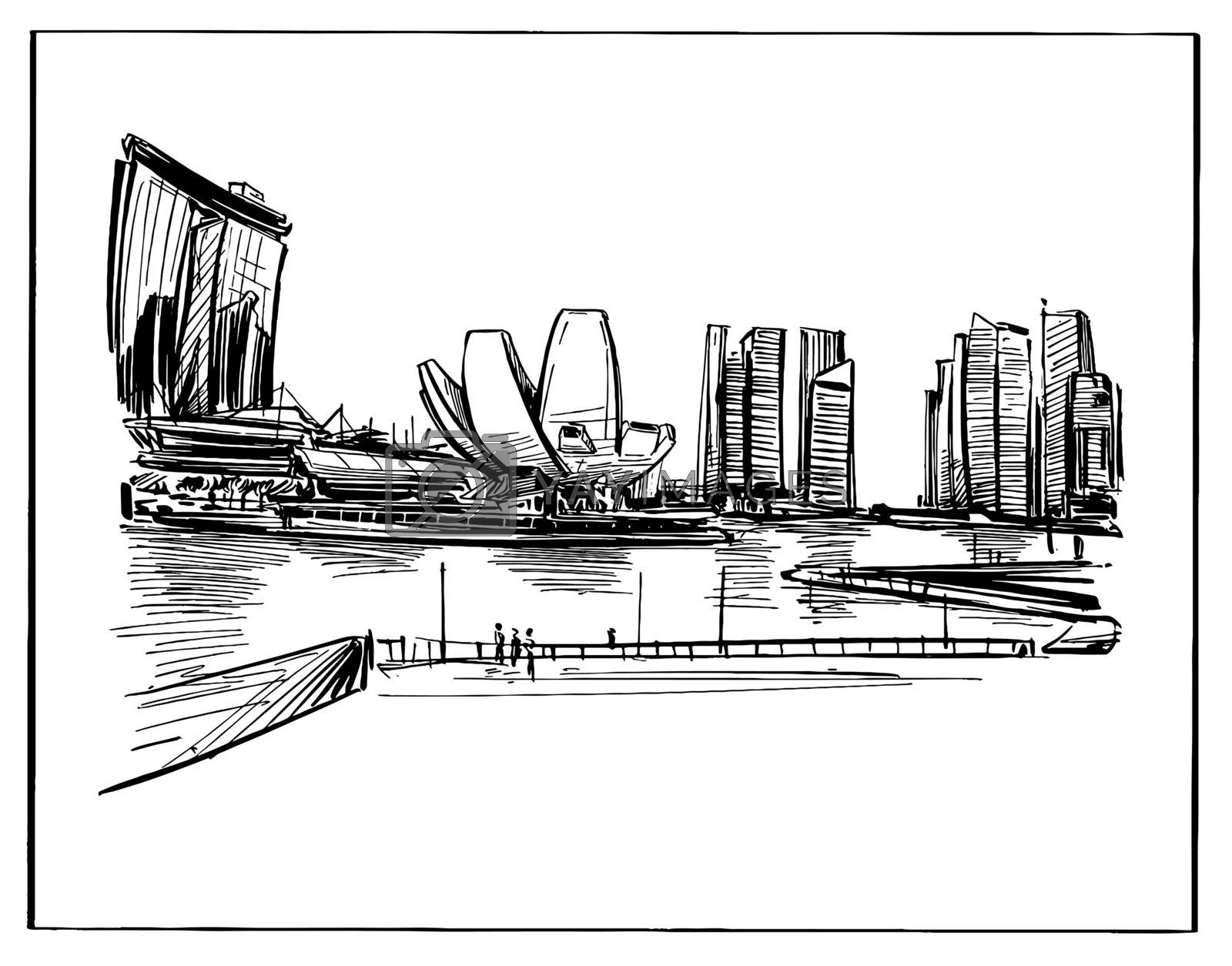 Drawing of the Singapore