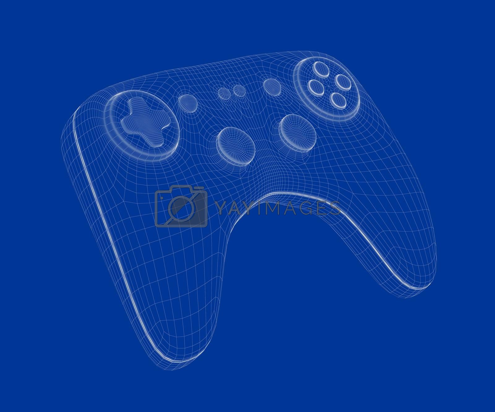 3d model of game controller by magraphics