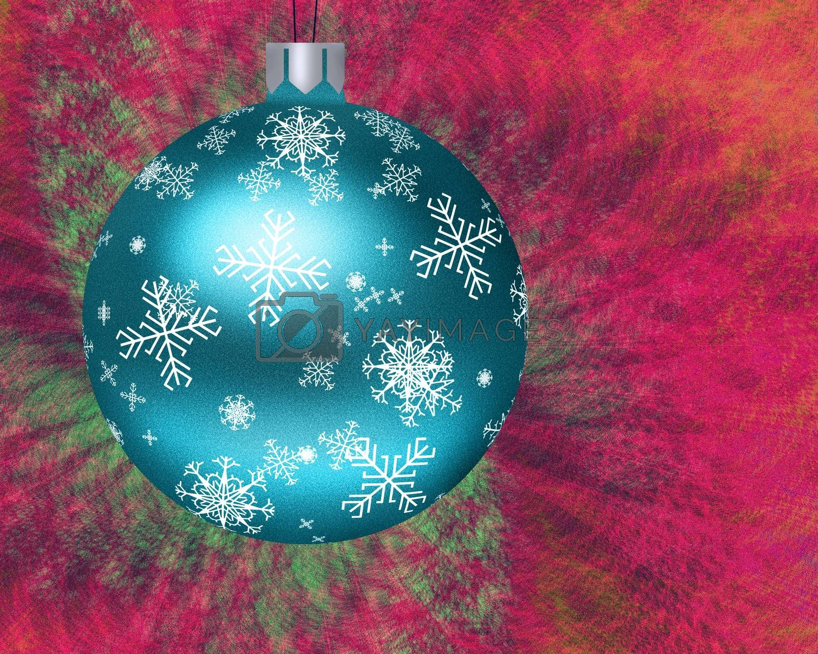 Christmas Tree Ornament. Ball with snowflakes