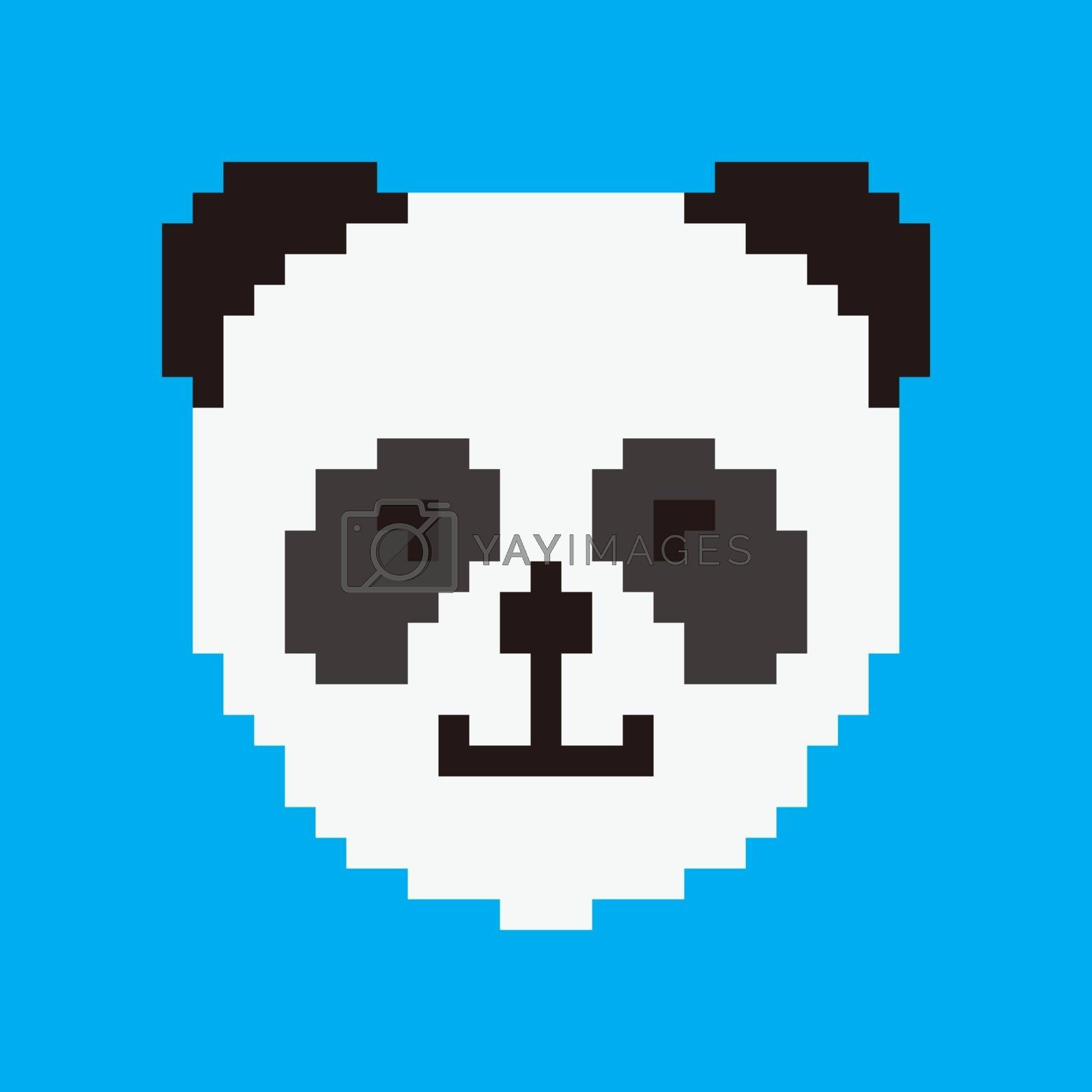 Pixel art monkey head. Cute ape for games and websites. Retro vi by wektorygrafika