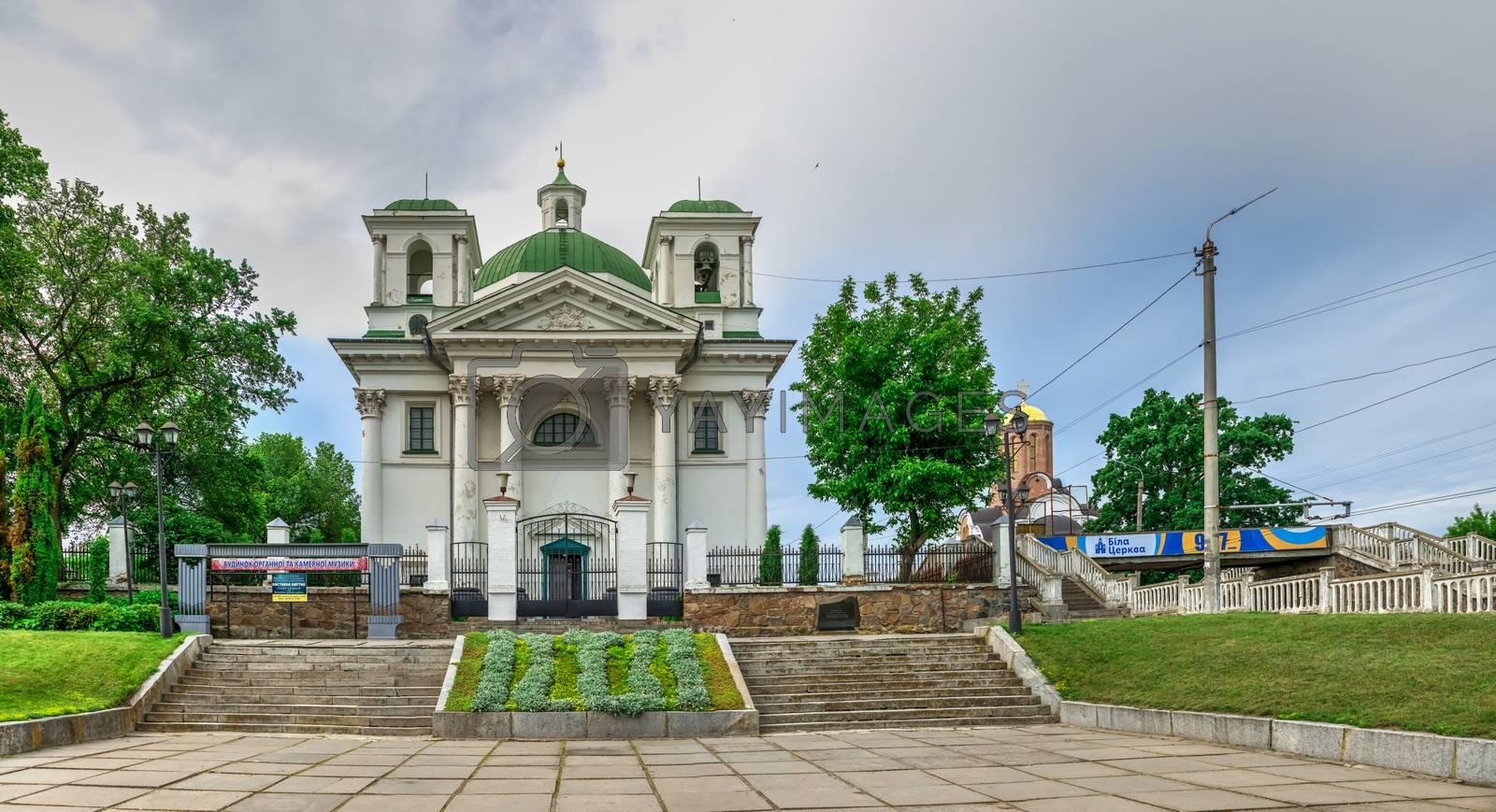 Bila Tserkva, Ukraine 06.20.2020. Church of St Ivan the Baptist in the city of Bila Tserkva, Ukraine, on a cloudy summer day