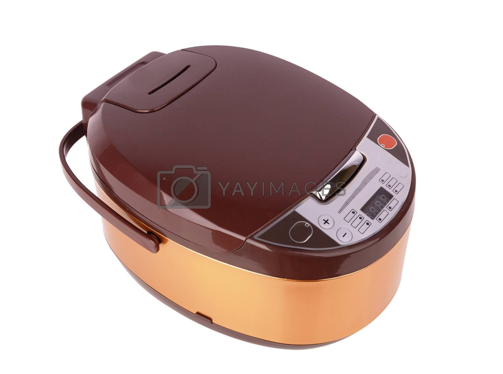 Electric multicooker isolated on a white background