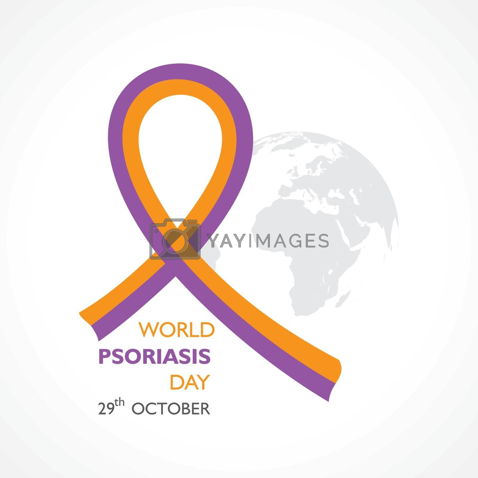 Vector Illustration of World Psoriasis Day observed on 29th October