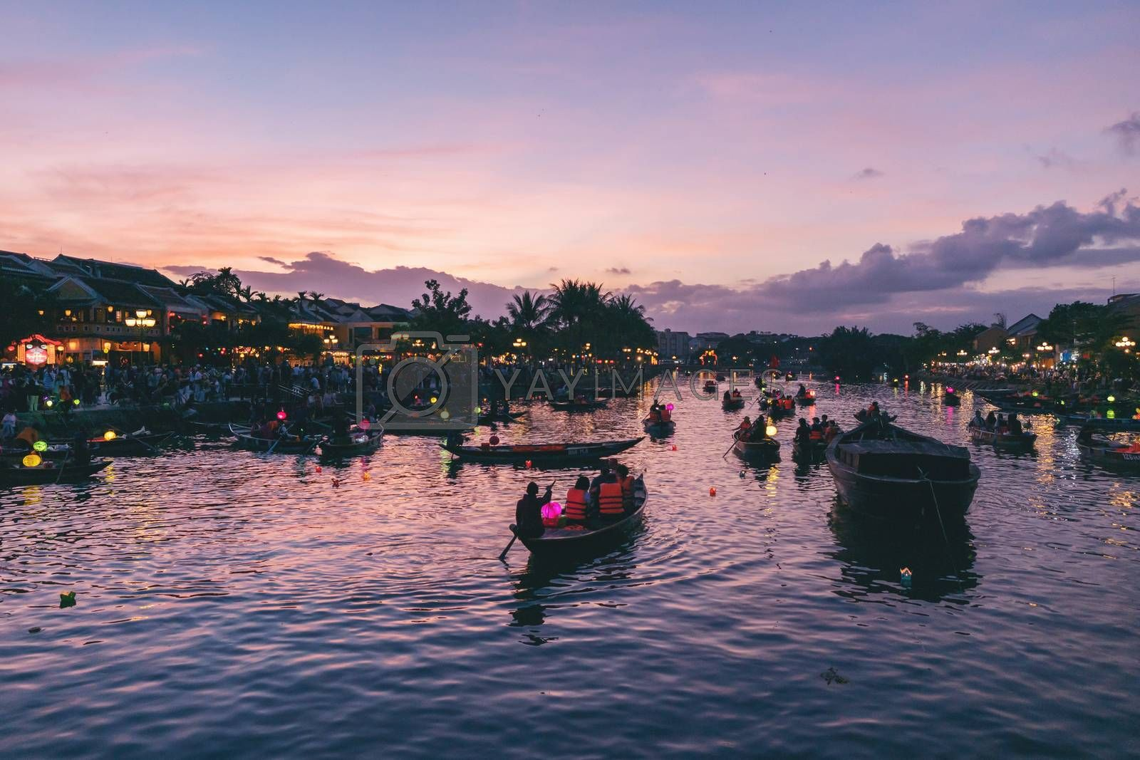 Hoian, Vietnam - 12 January, 2020: Hoi An ancient town, UNESCO world heritage. Hoi An is one of the most popular destinations in Vietnam.