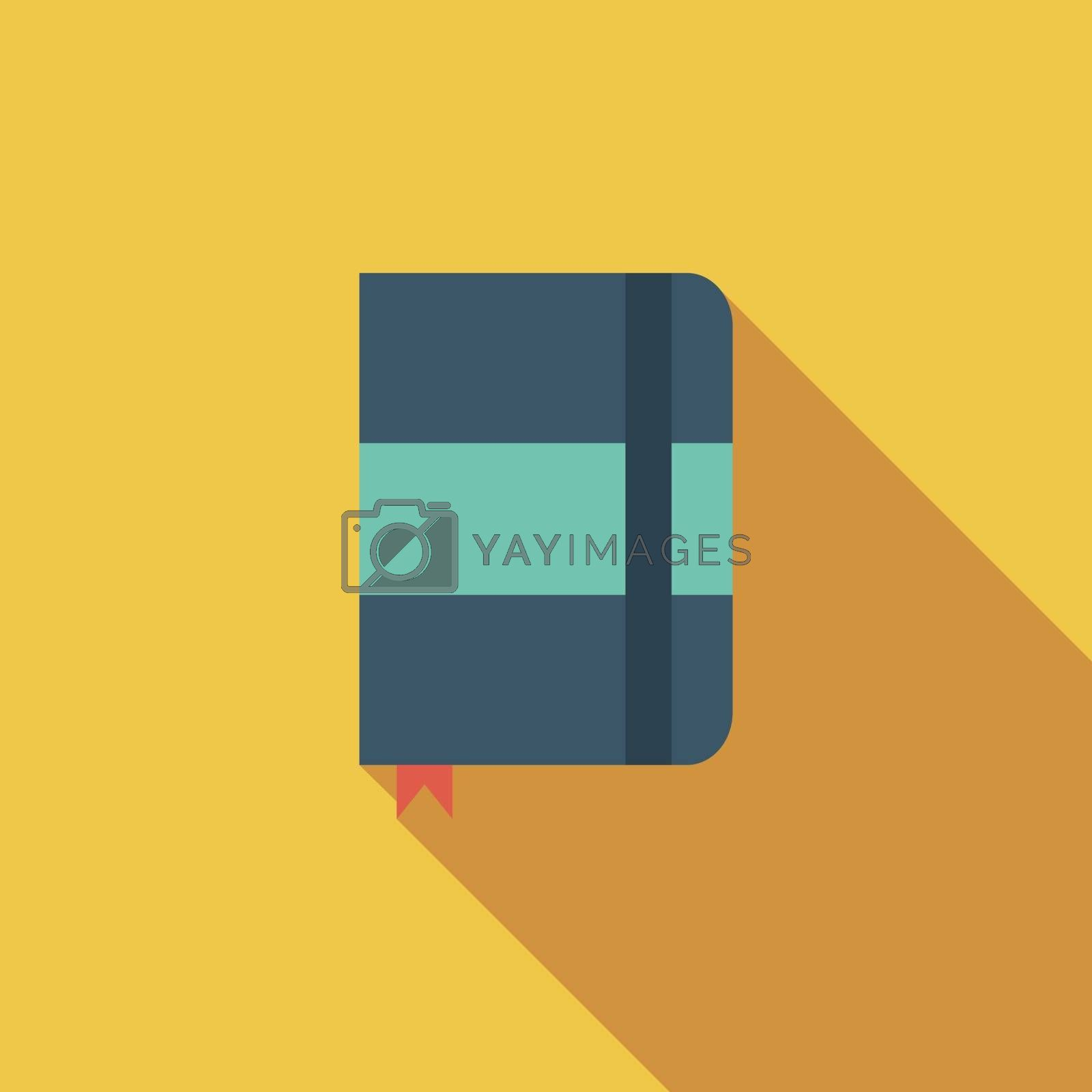 Paper notebook icon. Flat vector related icon with long shadow for web and mobile applications. It can be used as - logo, pictogram, icon, infographic element. Vector Illustration.