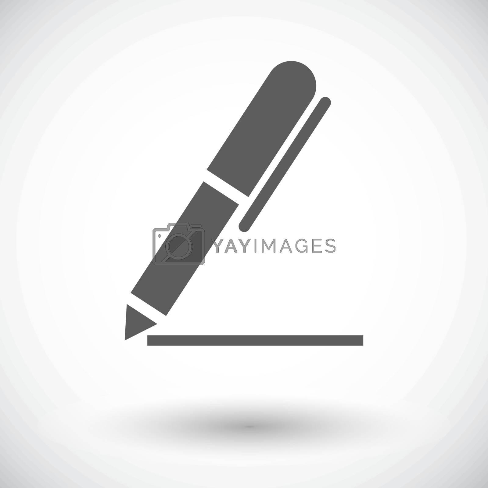 Notes. Single flat icon on white background. Vector illustration.
