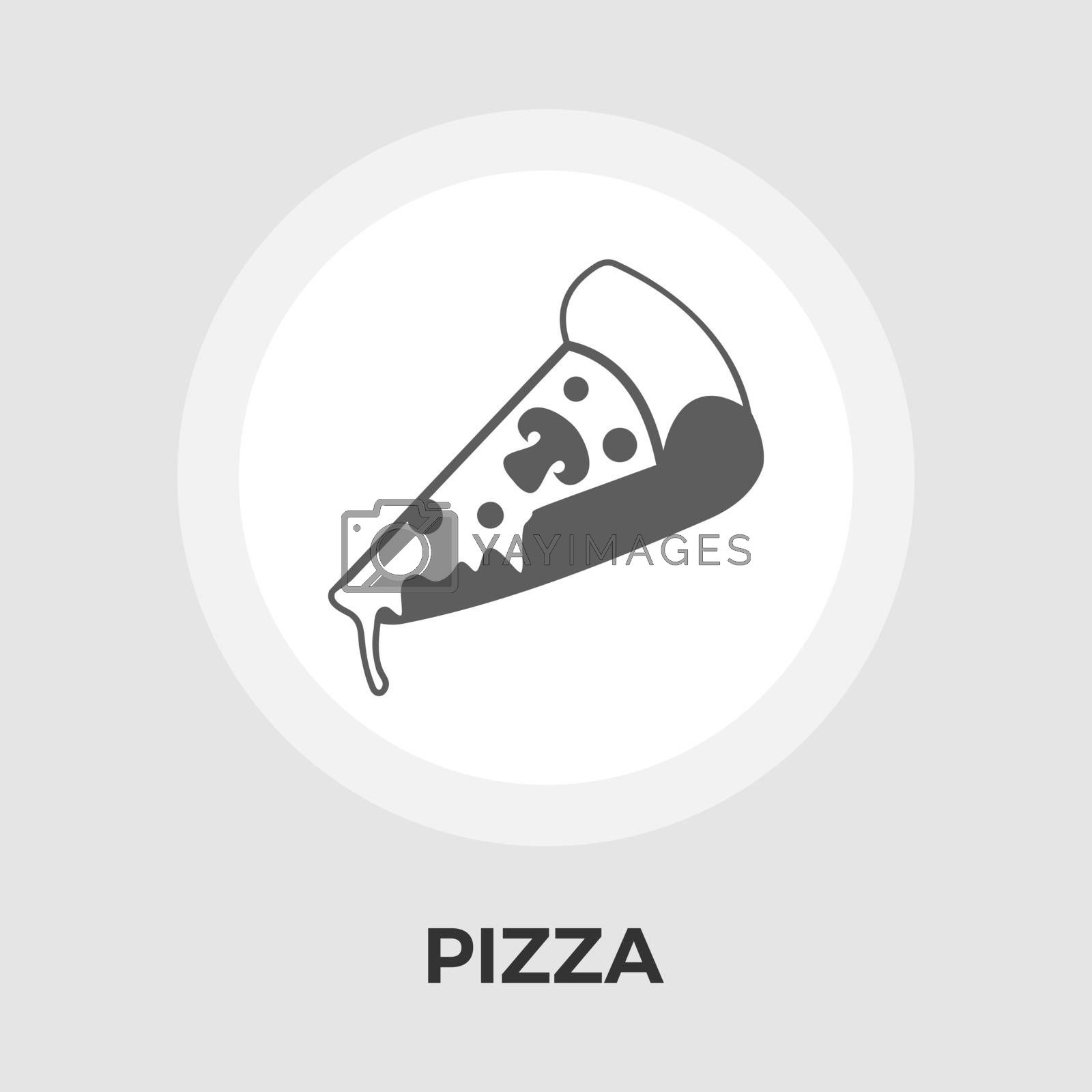 Pizza icon vector. Flat icon isolated on the white background. Editable EPS file. Vector illustration.