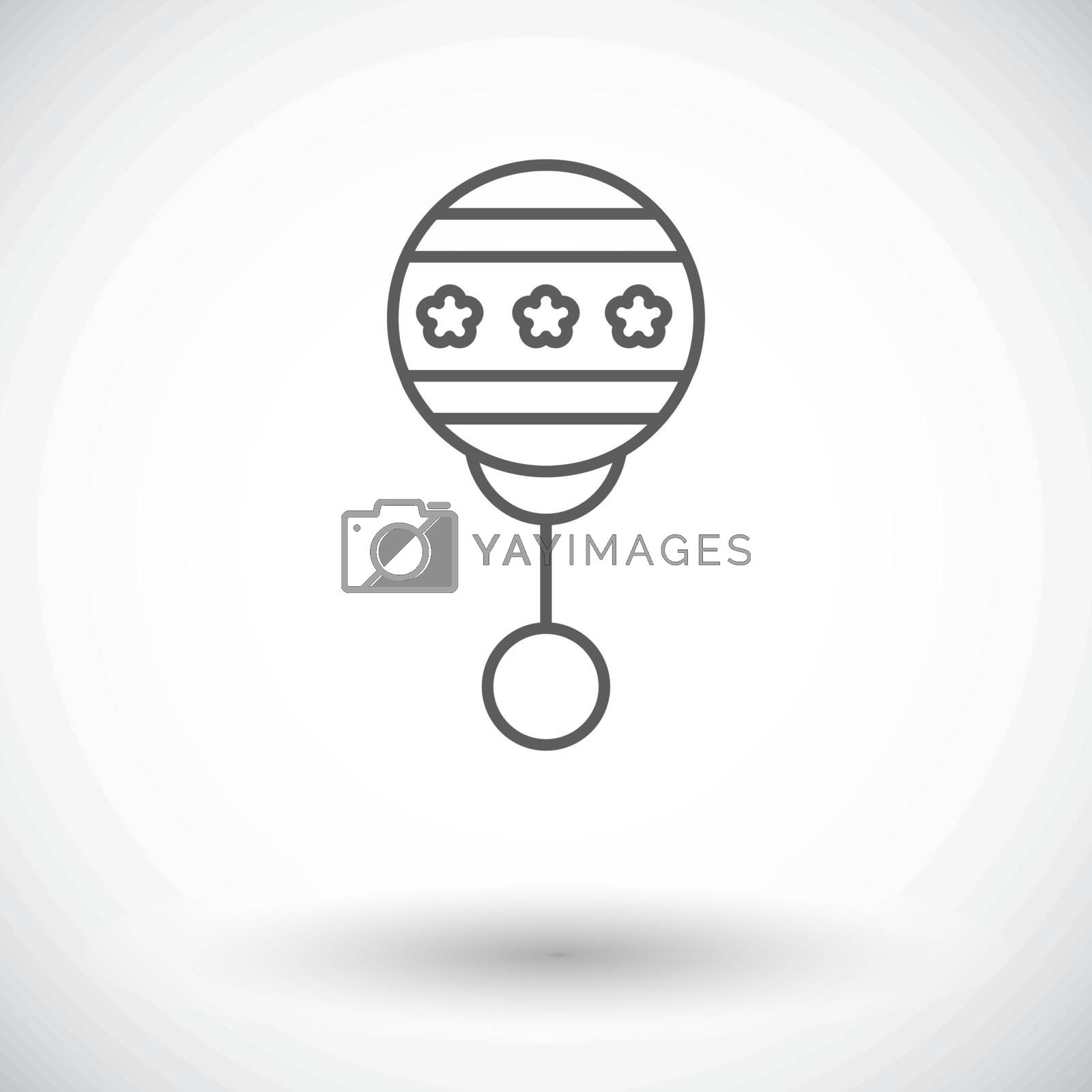 Rattle icon.Flat vector related icon set for web and mobile applications. It can be used as - logo, pictogram, icon, infographic element. Vector Illustration.