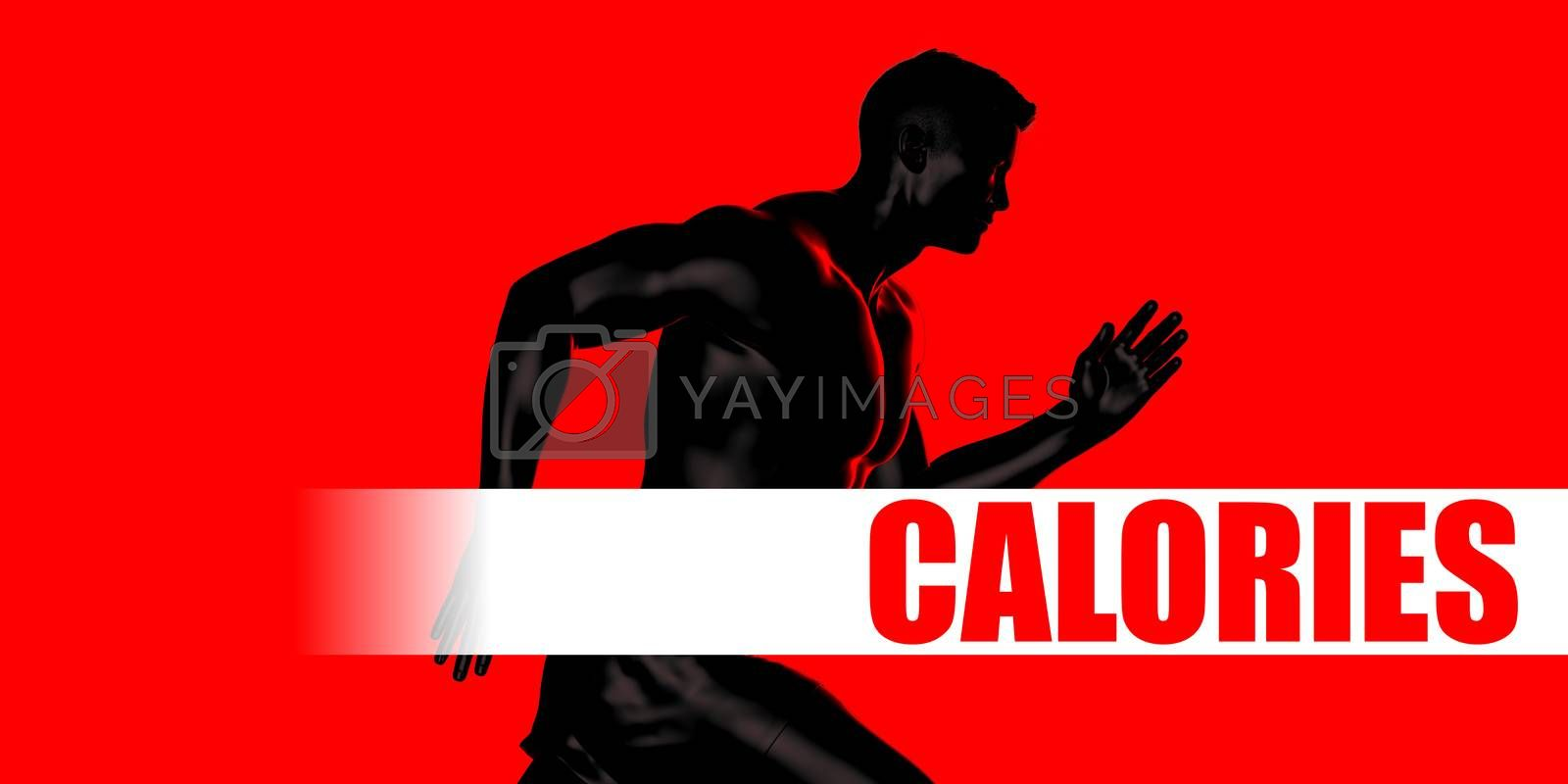 Calories Concept with Fit Man Running Lifestyle