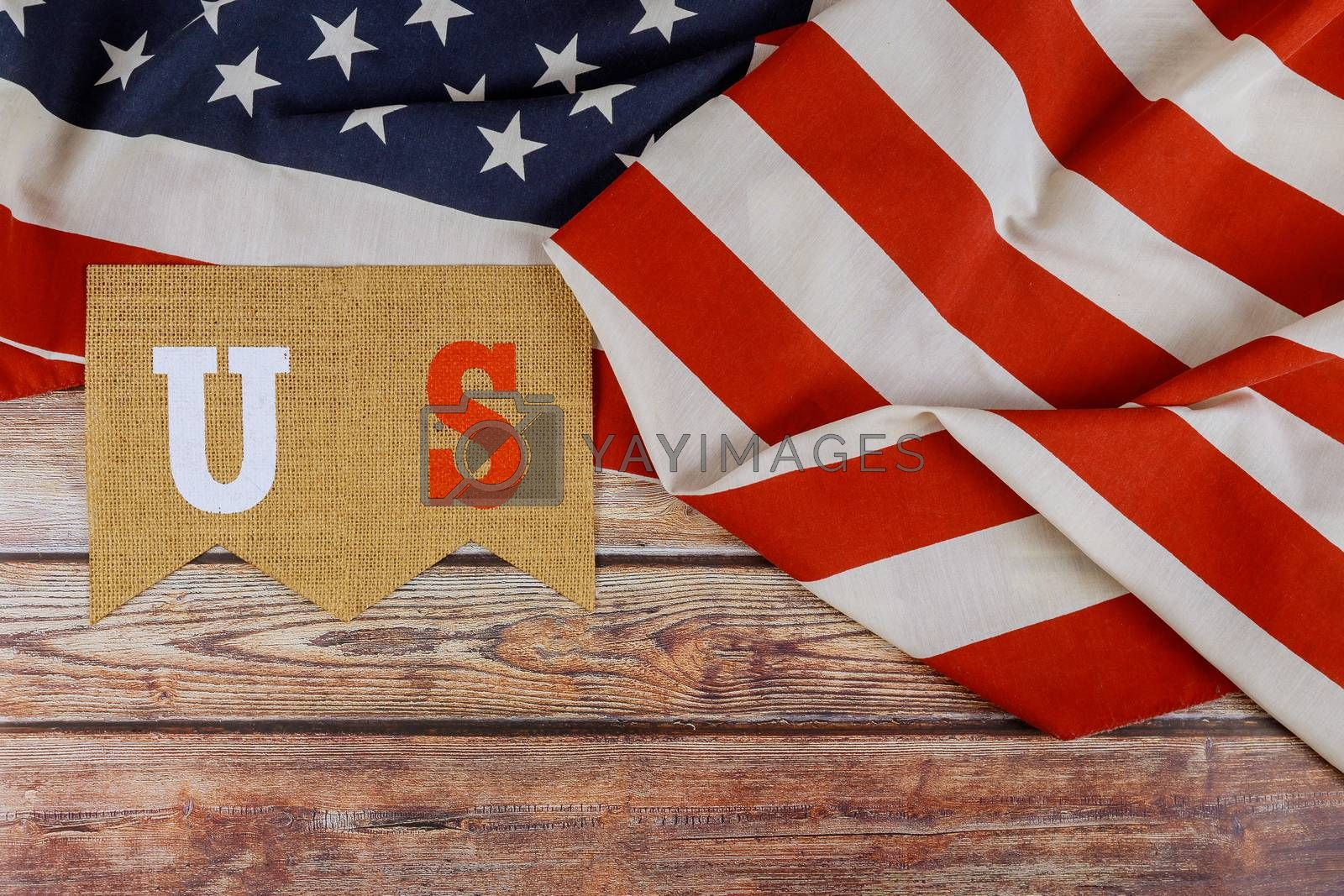 Royalty free image of Happy US. federal holiday of Labor Day Memorial Day of the American flag by ungvar