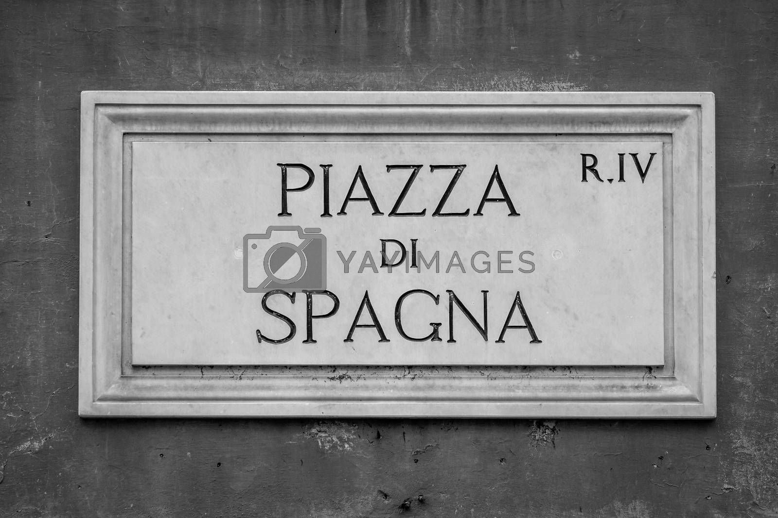 Detail of Piazza di Spagna (Spain Square ) in Rome, Italy