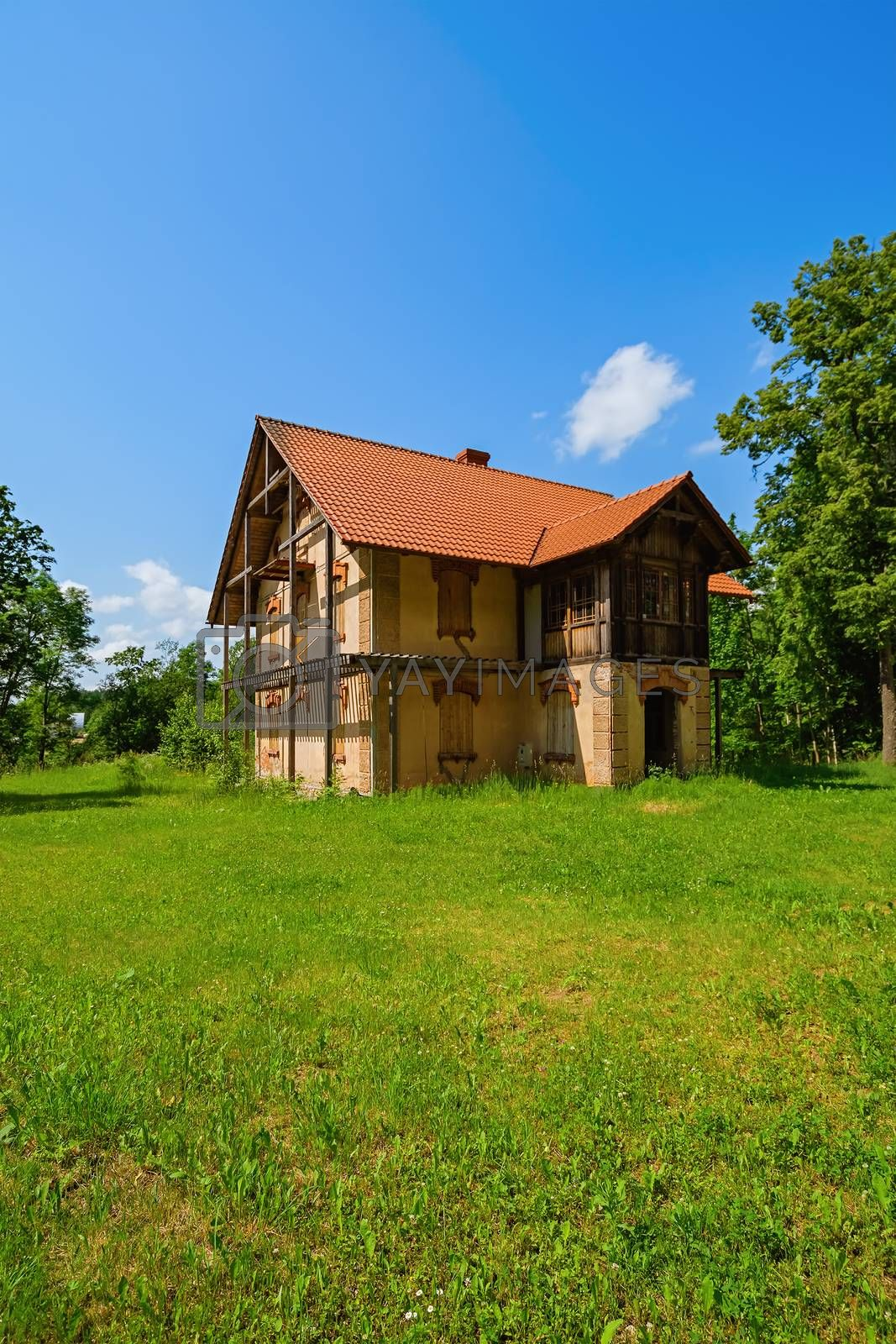 Abandoned old house in the countryside