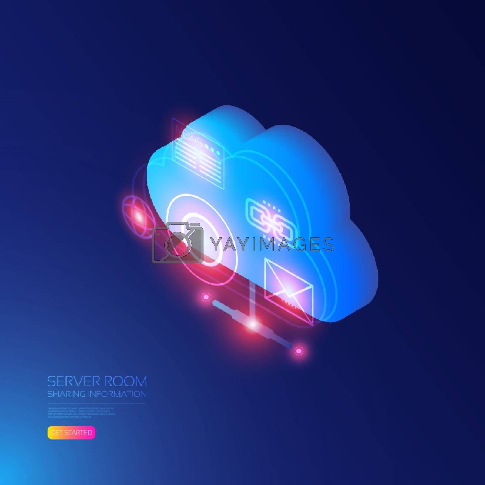 Isometric cloud server, data storage