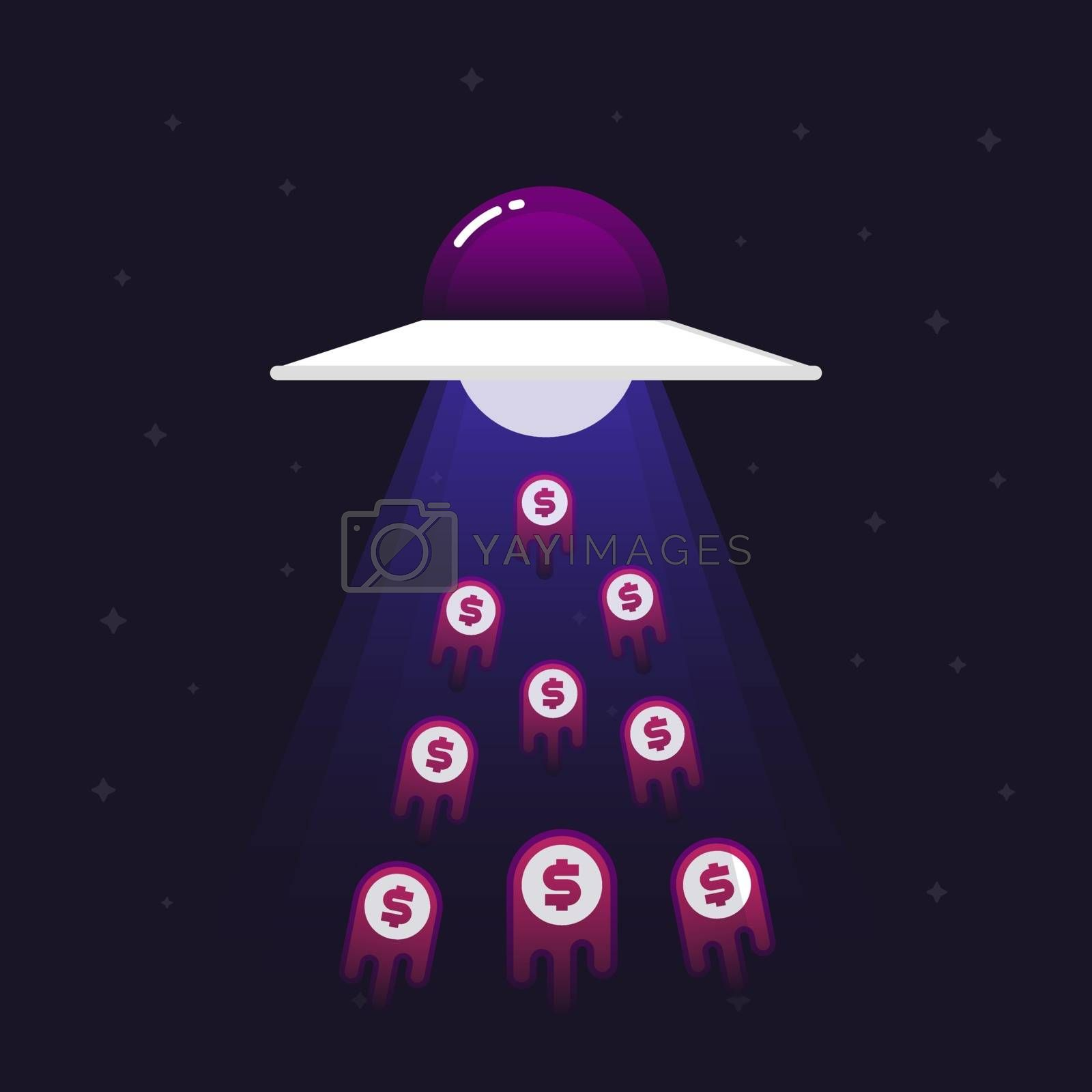 UFO sucking money into space