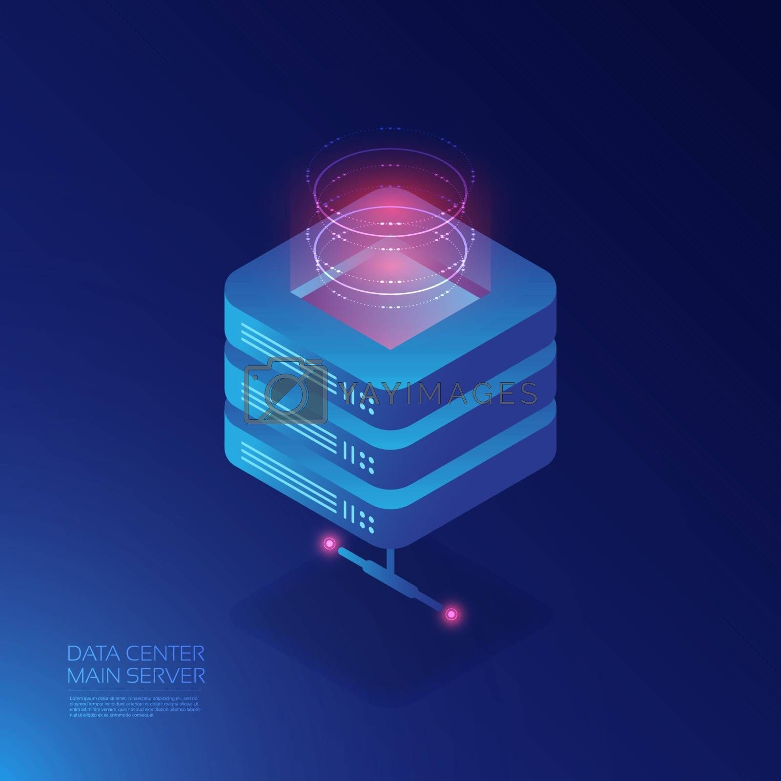 Isometric cloud service, online data storage