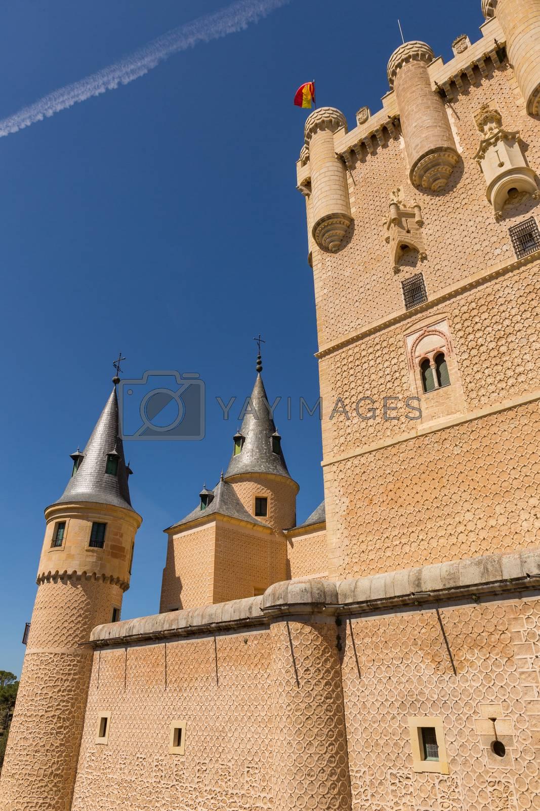 Details of the famous Alcazar castle of Segovia, Castilla y Leon, Spain