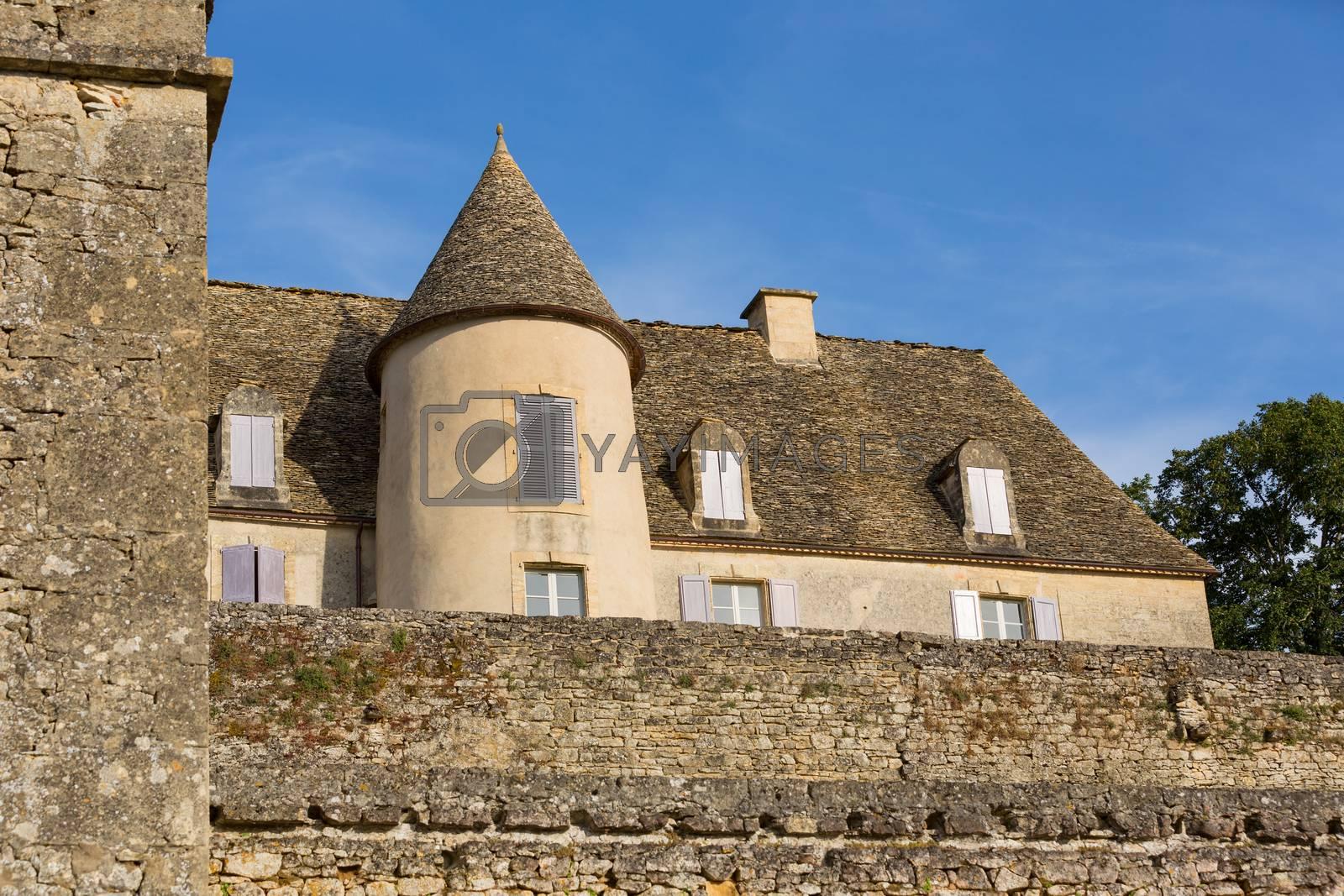Dordogne, France: The Castle of the gardens of the Jardins de Marqueyssac in the Dordogne region of France