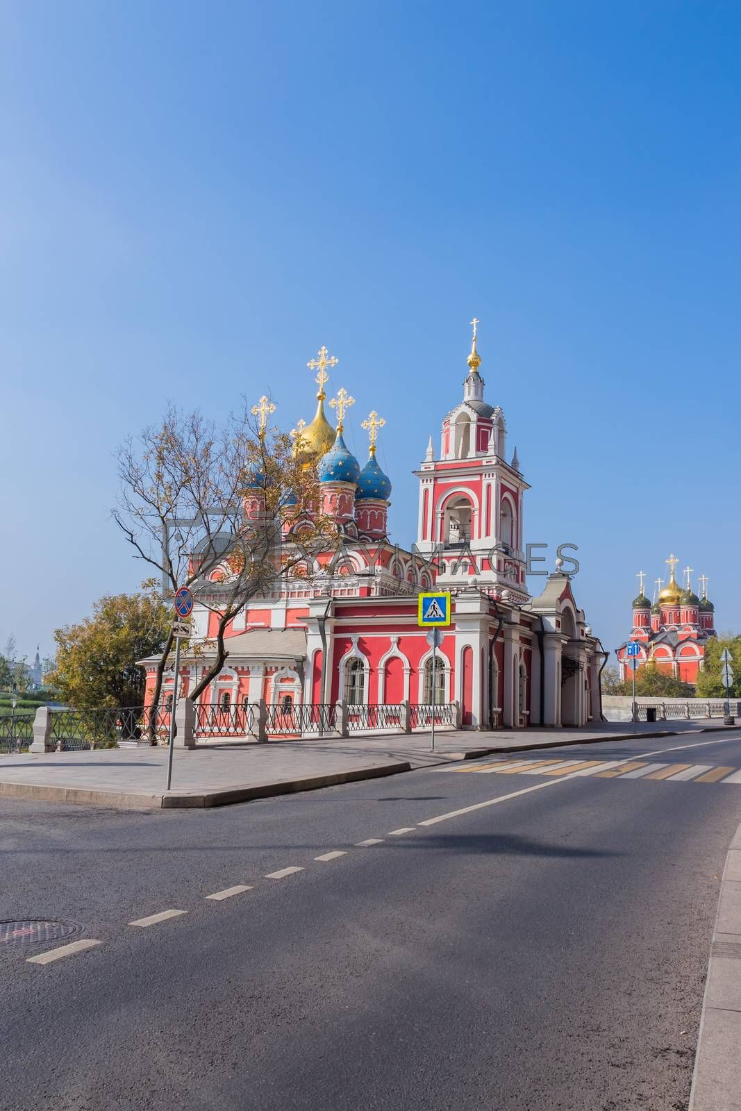Church of St George (the Protection of the Blessed Virgin) on the Pskov mountain on Varvarka street in center of Moscow city