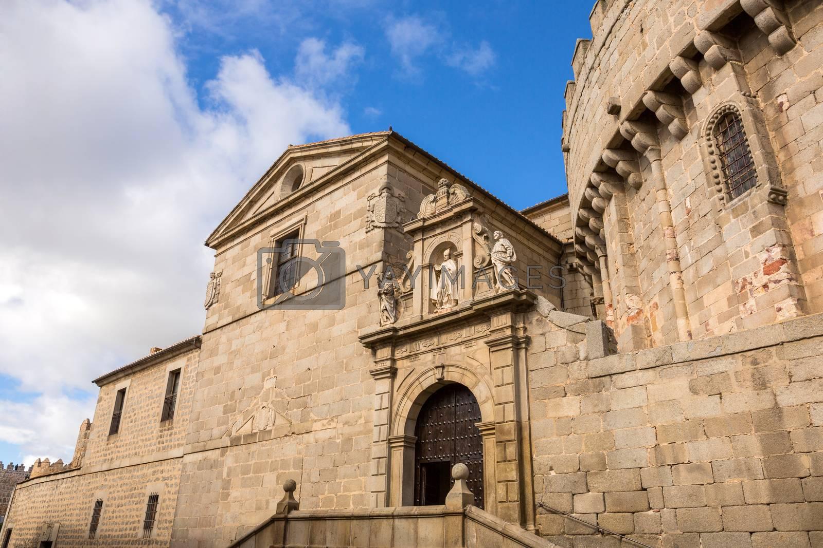 The famous Avila cathedral, Castilla y Leon, Spain.