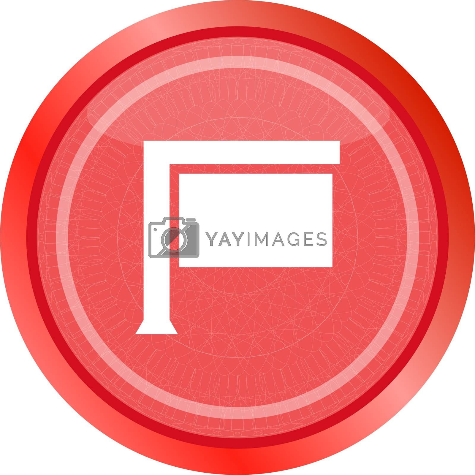 board sign on web icon, button isolated on white