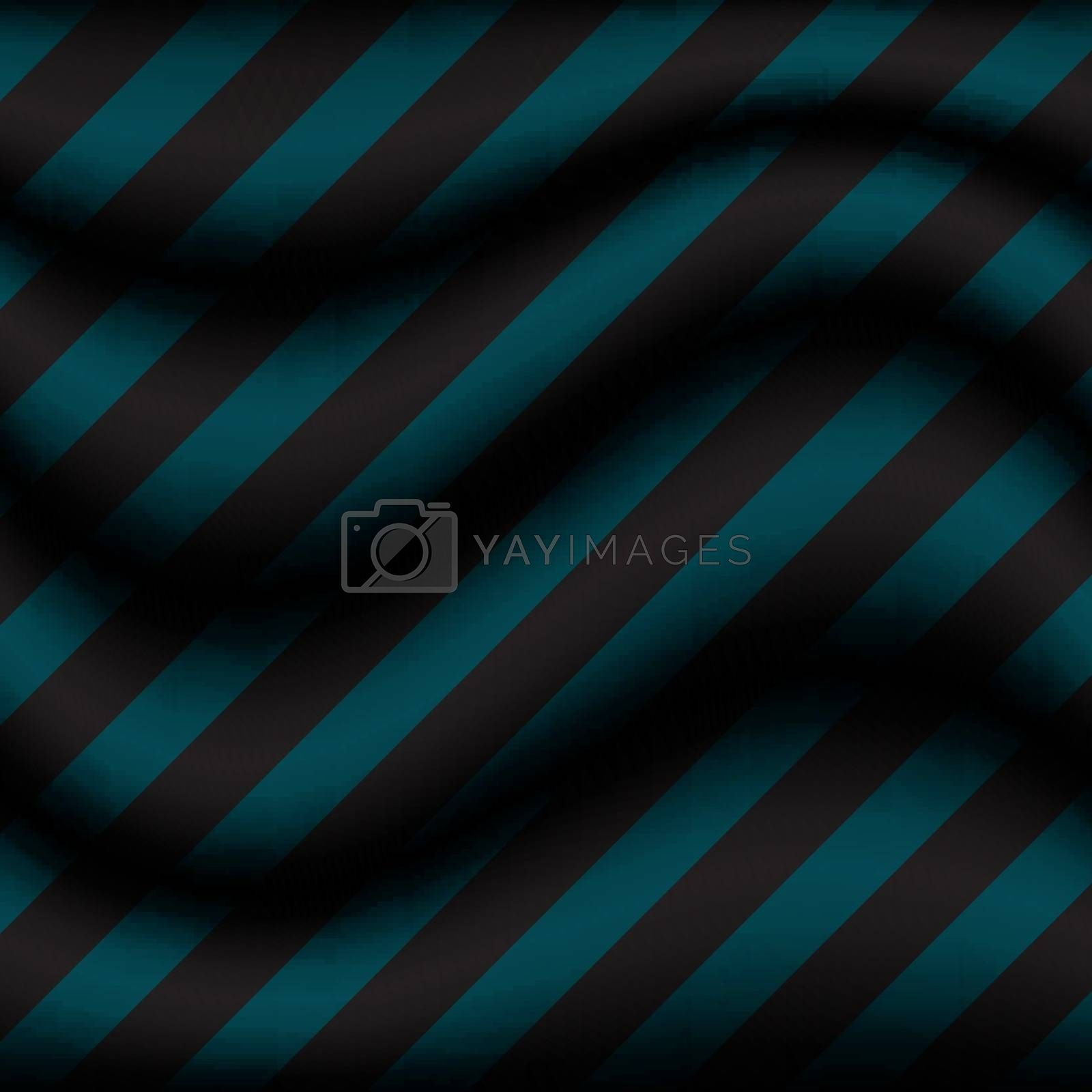Abstract background striped blue wave with diagonal black stripes pattern. Vector illustration