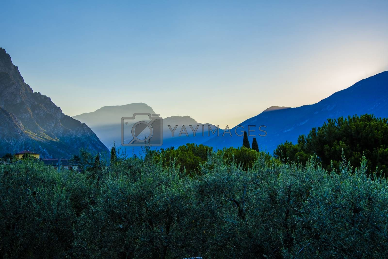 image of a mountains around Limone sul Garda, Brescia, Italy